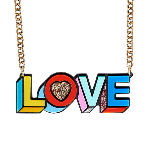 Pop Love Rainbow Necklace