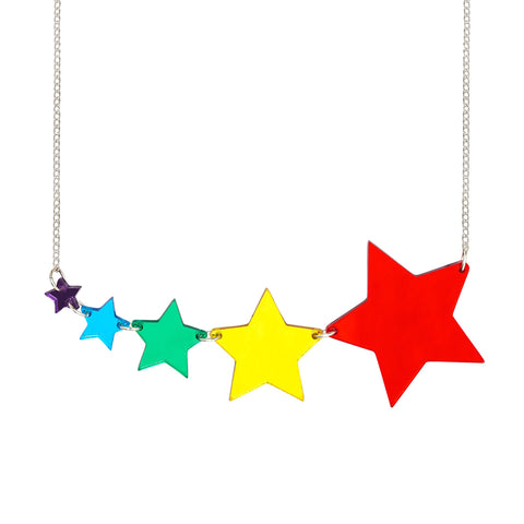 Shooting Star Rainbow Necklace