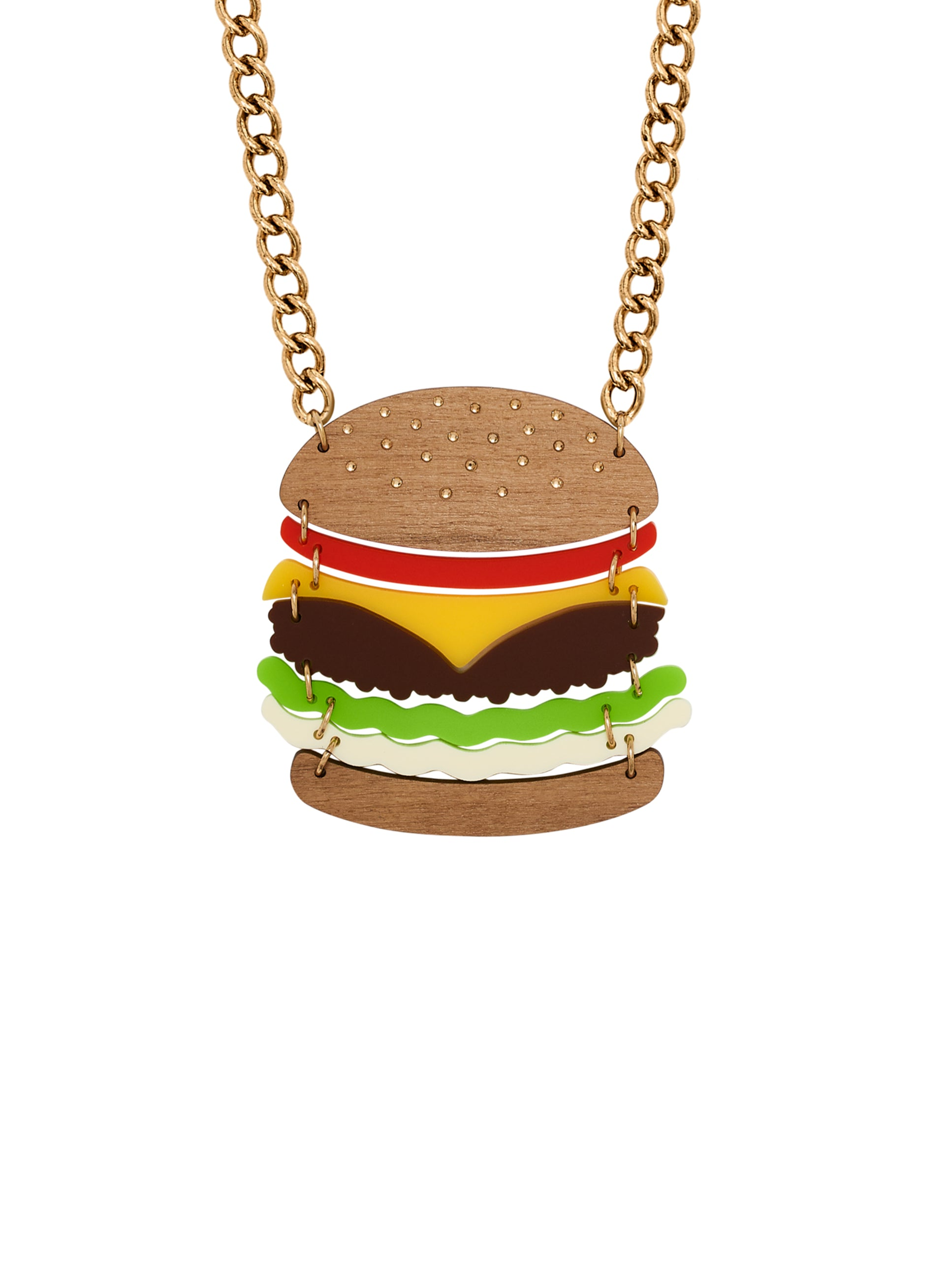 Super Burger Necklace