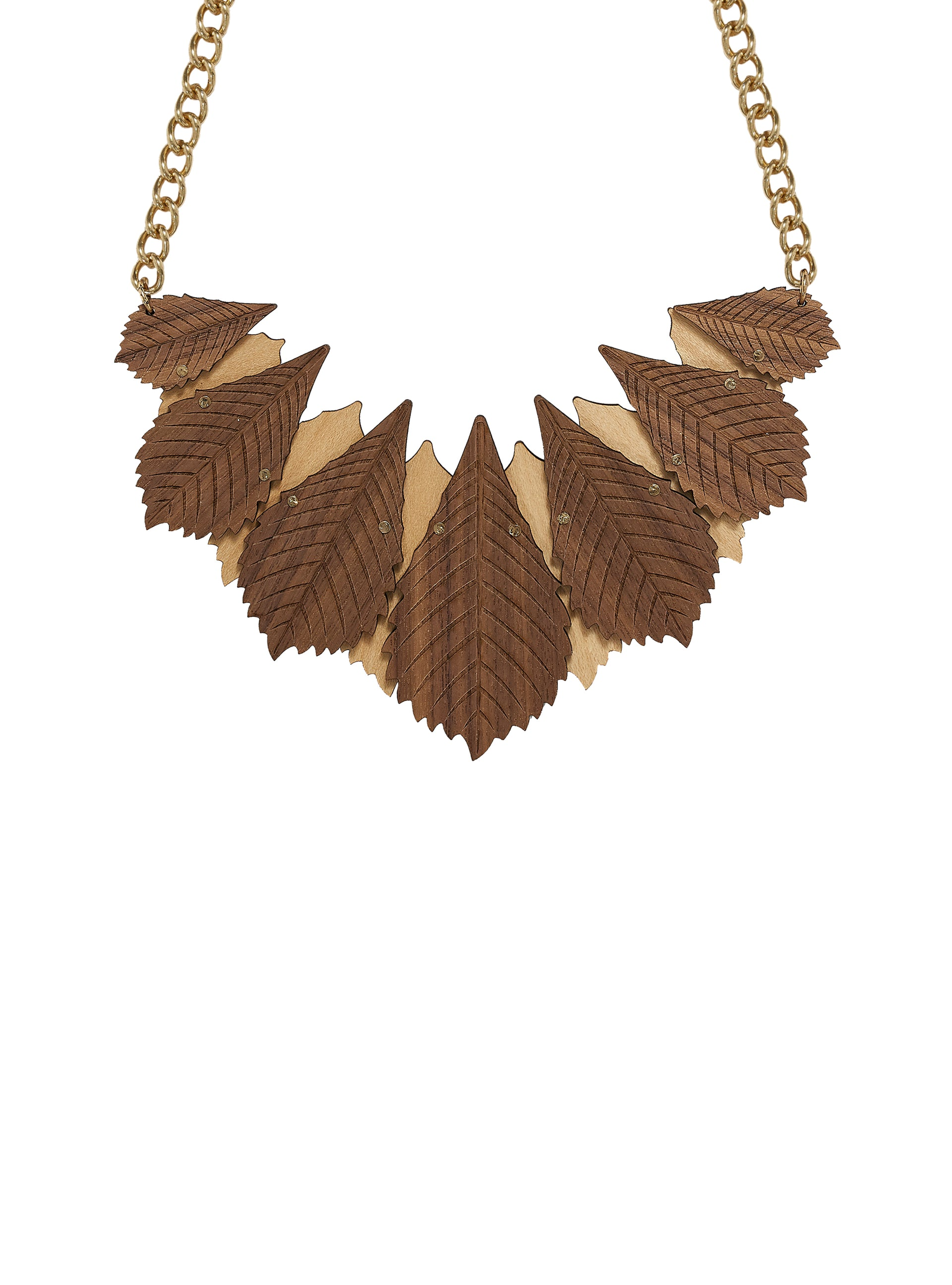 Chestnut Leaves Necklace