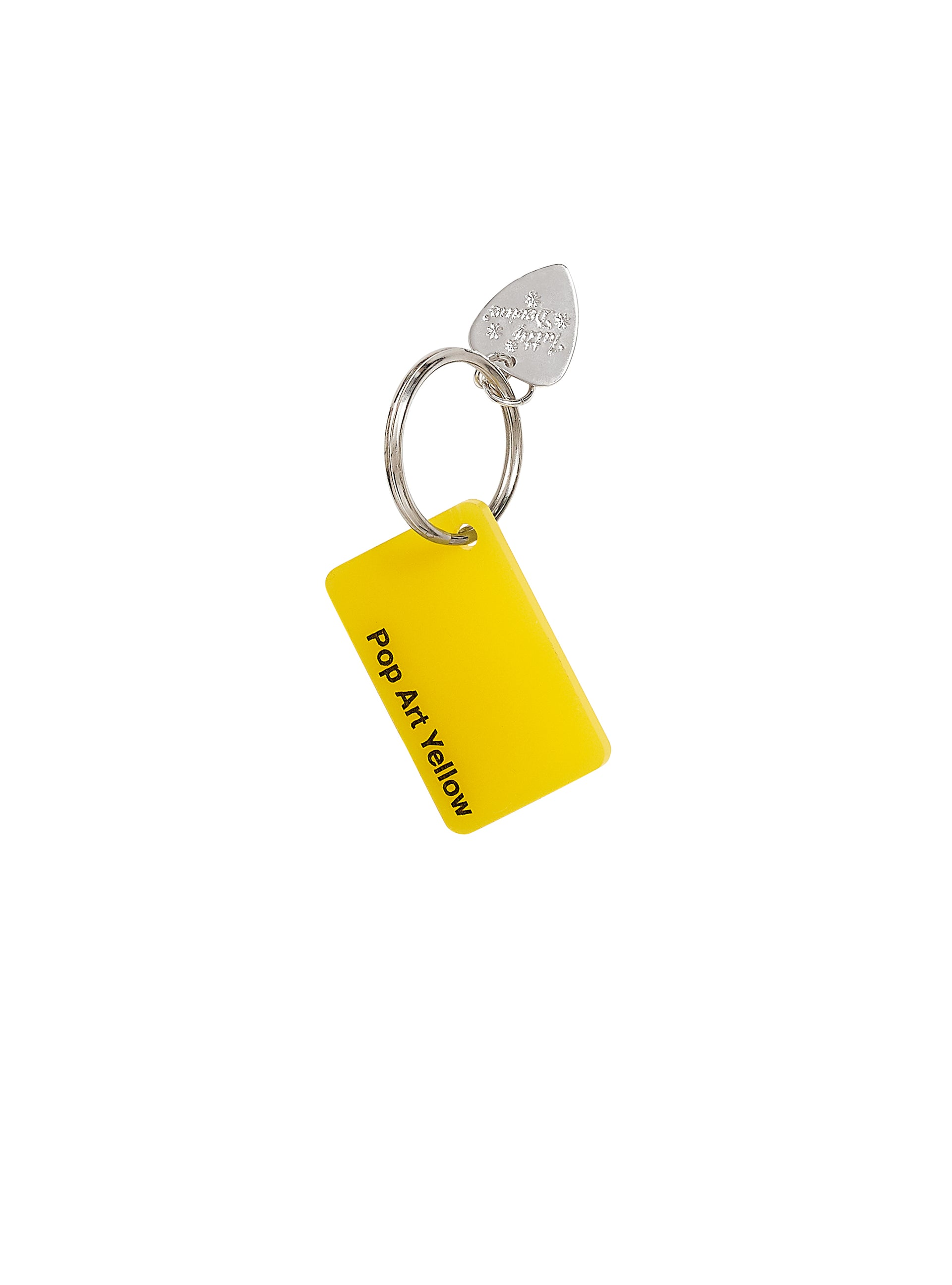 Colour-Swatch-Keyring-Pop-Art-Yellow