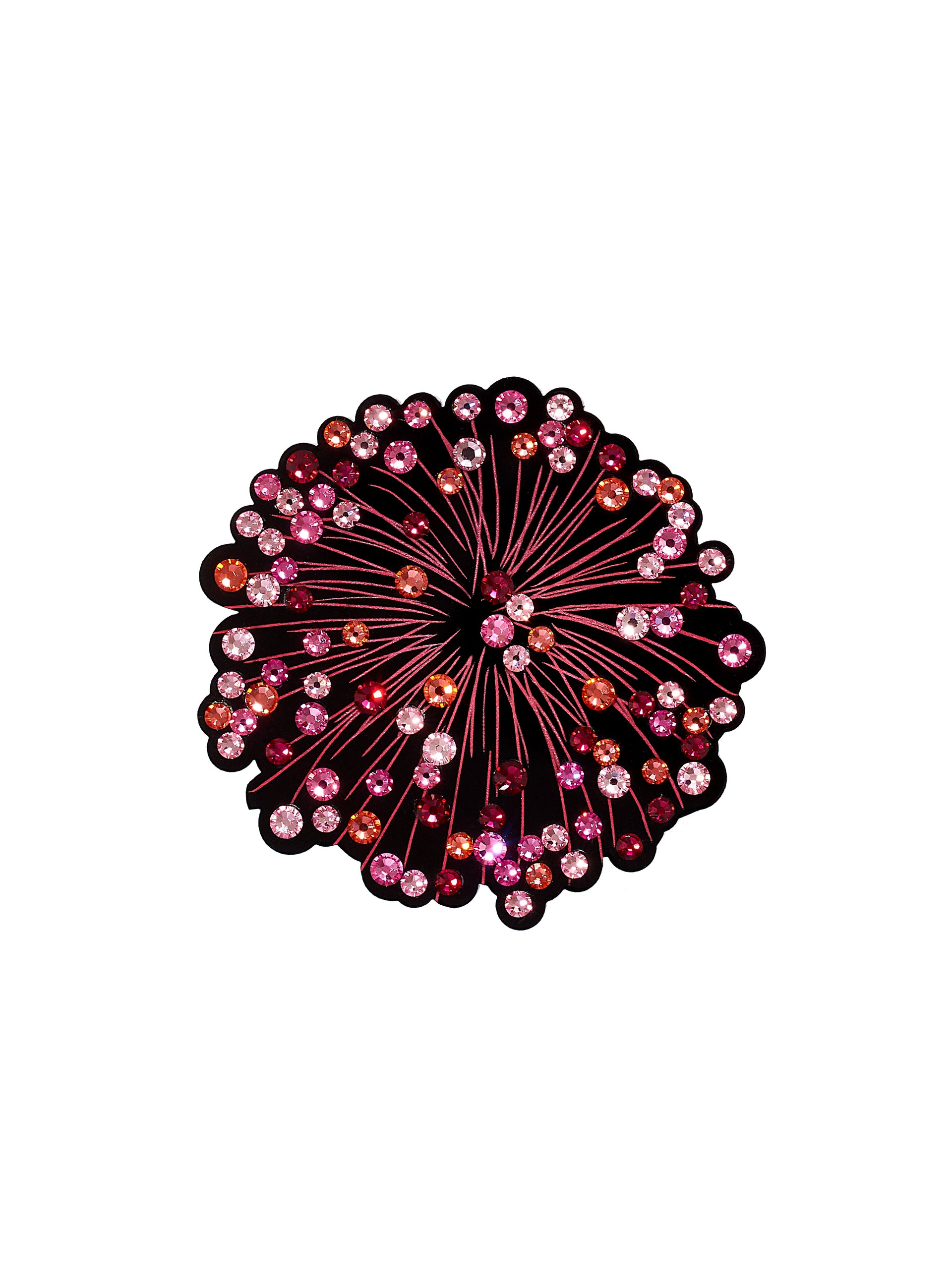 Firework Display Statement Brooch - Pink