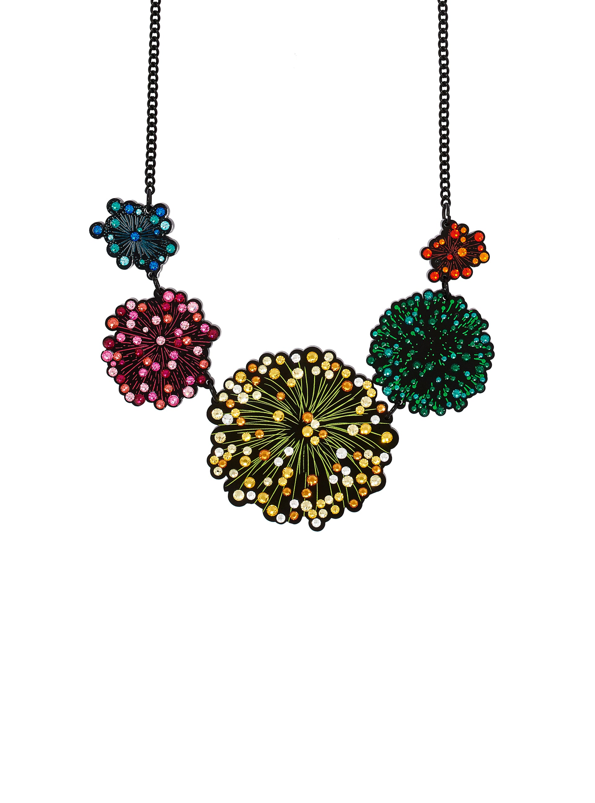 Firework Display Statement Necklace