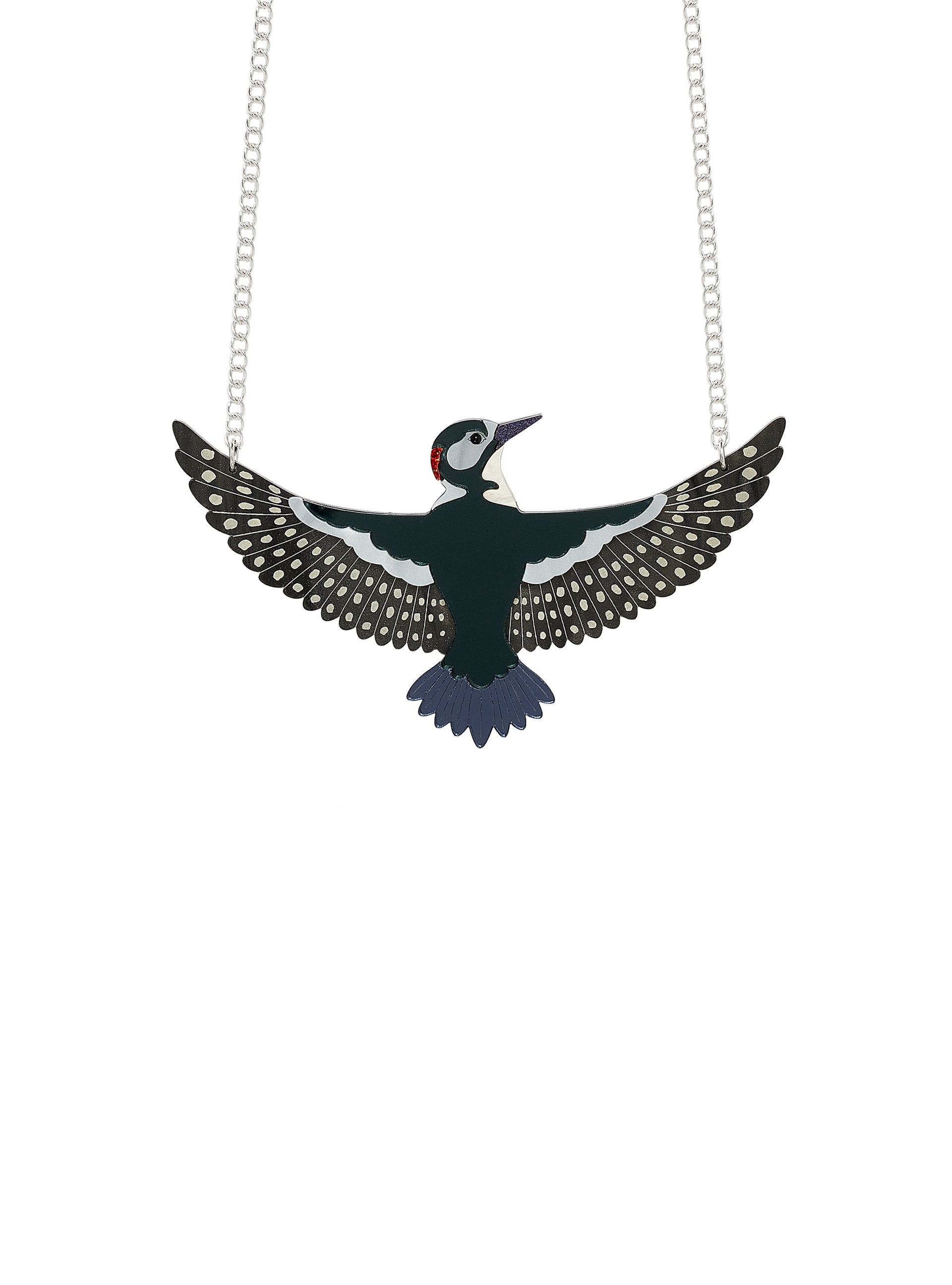 Great Spotted Woodpecker Necklace