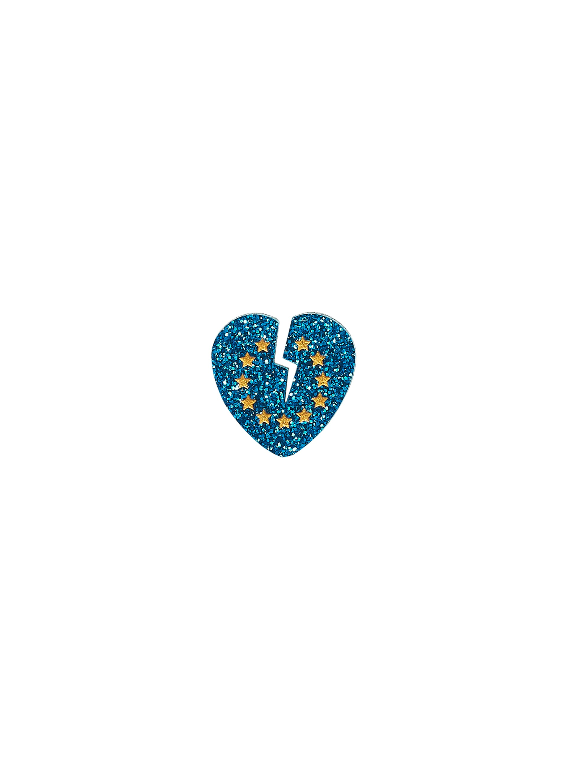 Heart Broken for EU Brooch