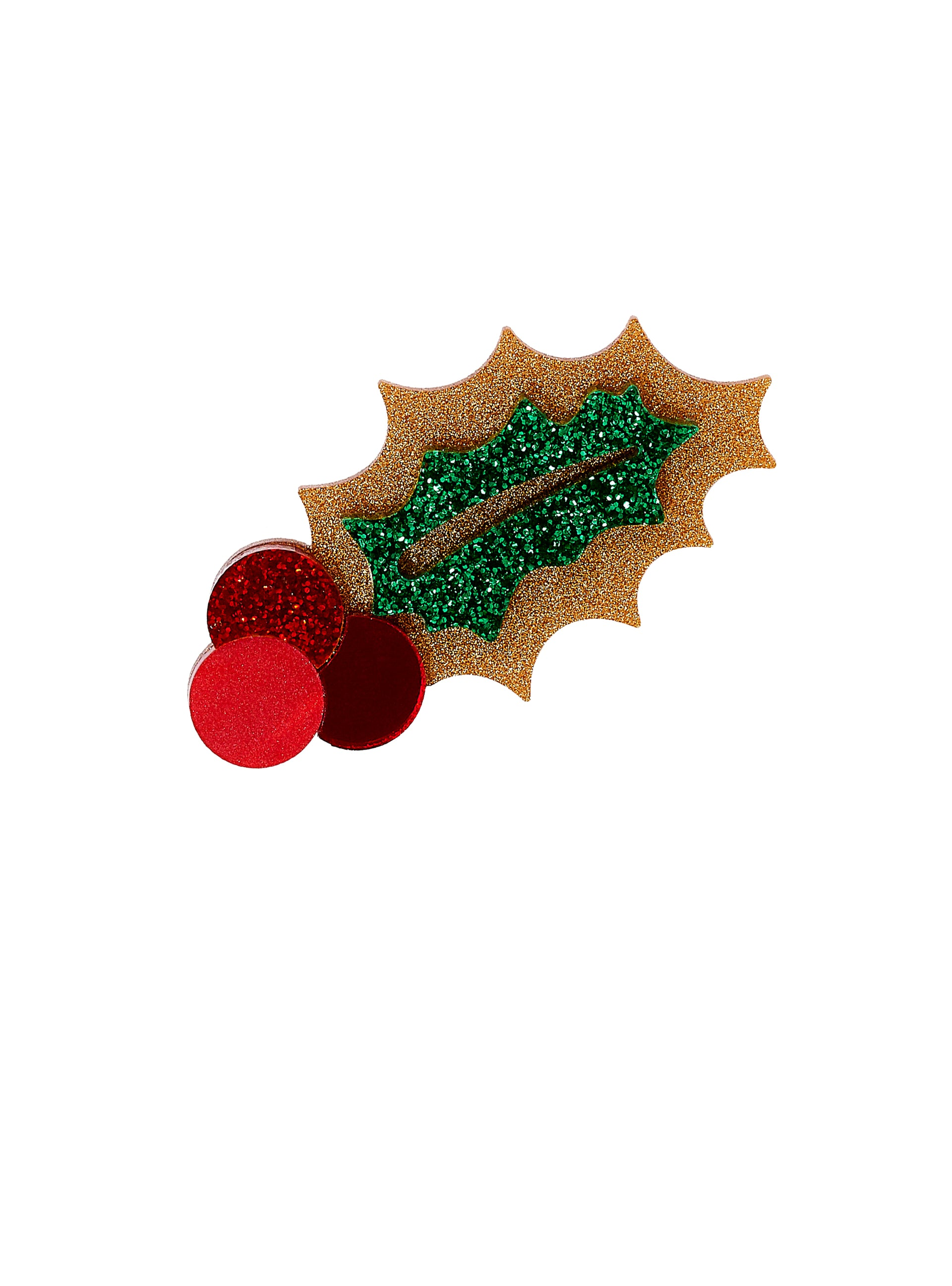 Holly Berries Brooch - Gold Dust