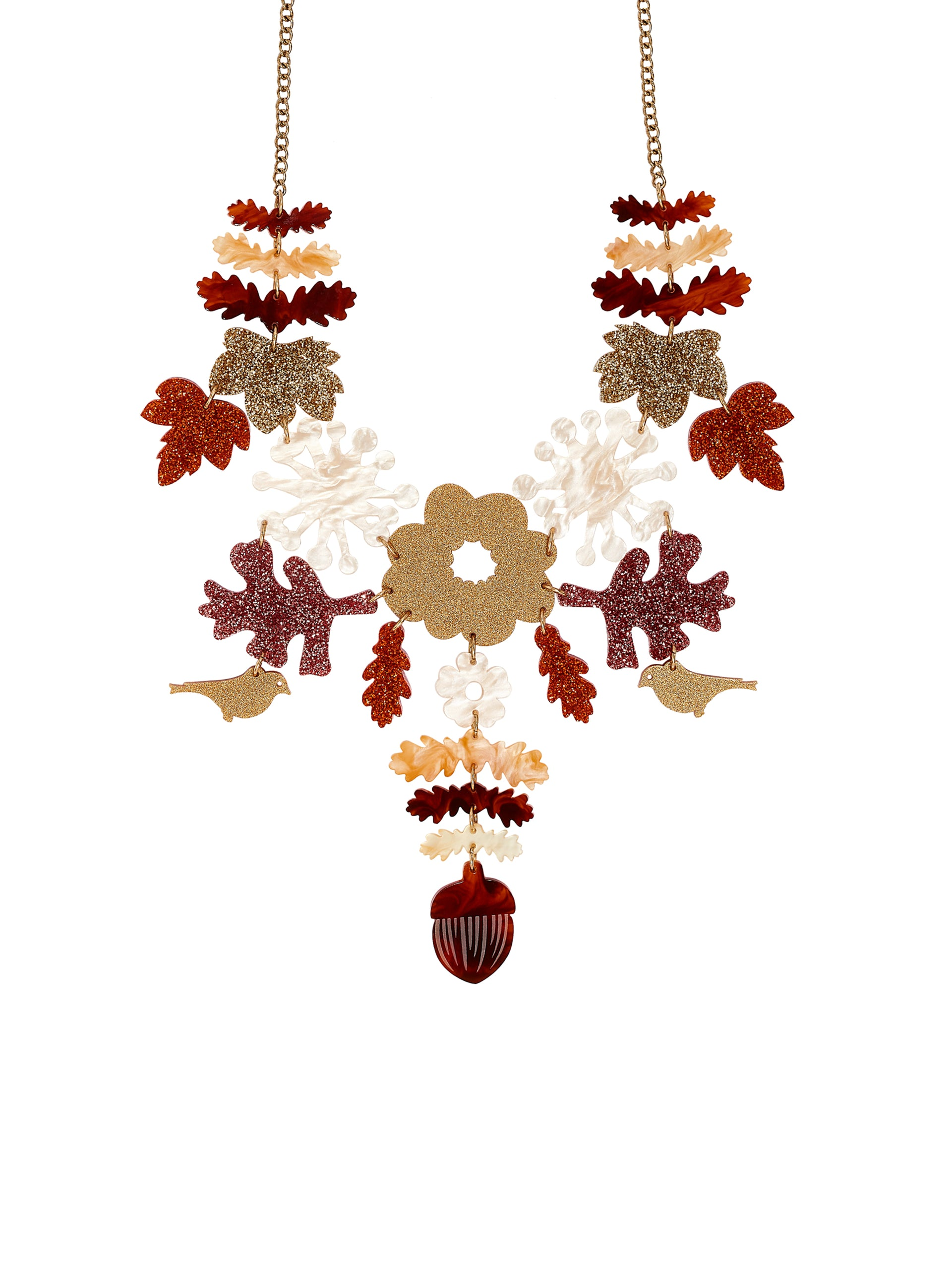 Large Woodland Embroidery Necklace