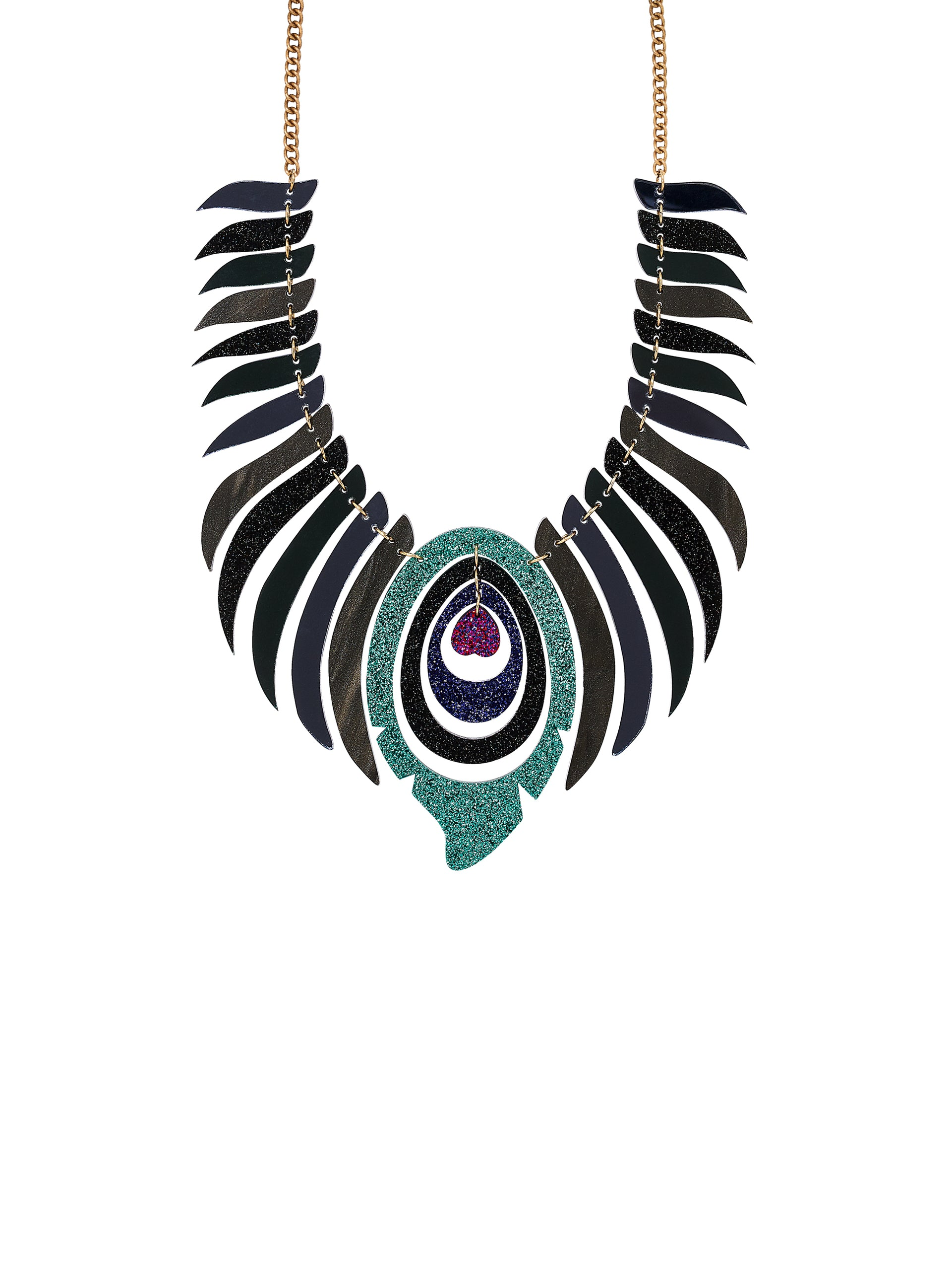 Midnight Peacock Necklace