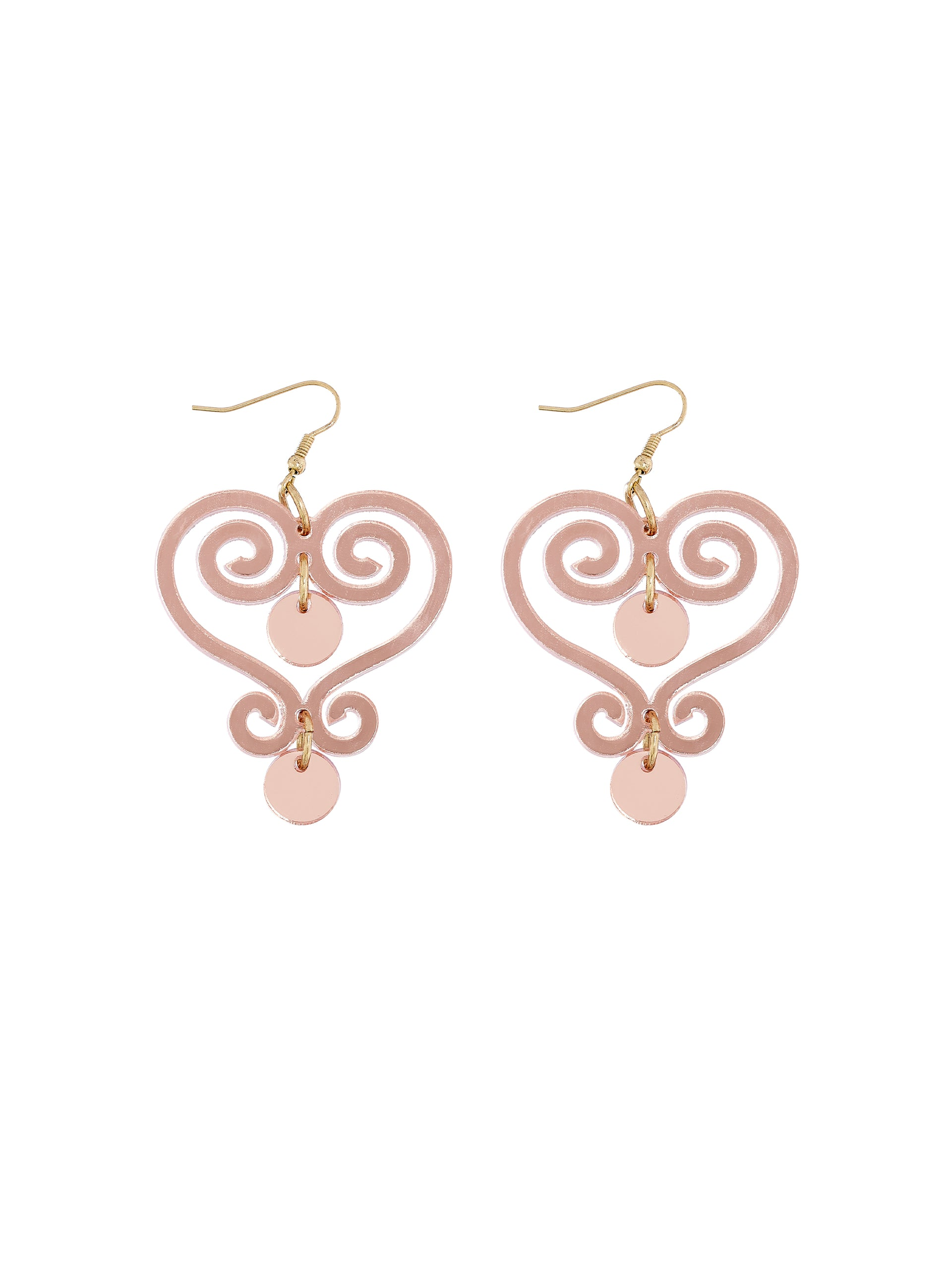 Ornate Gate Earrings - Rose Gold