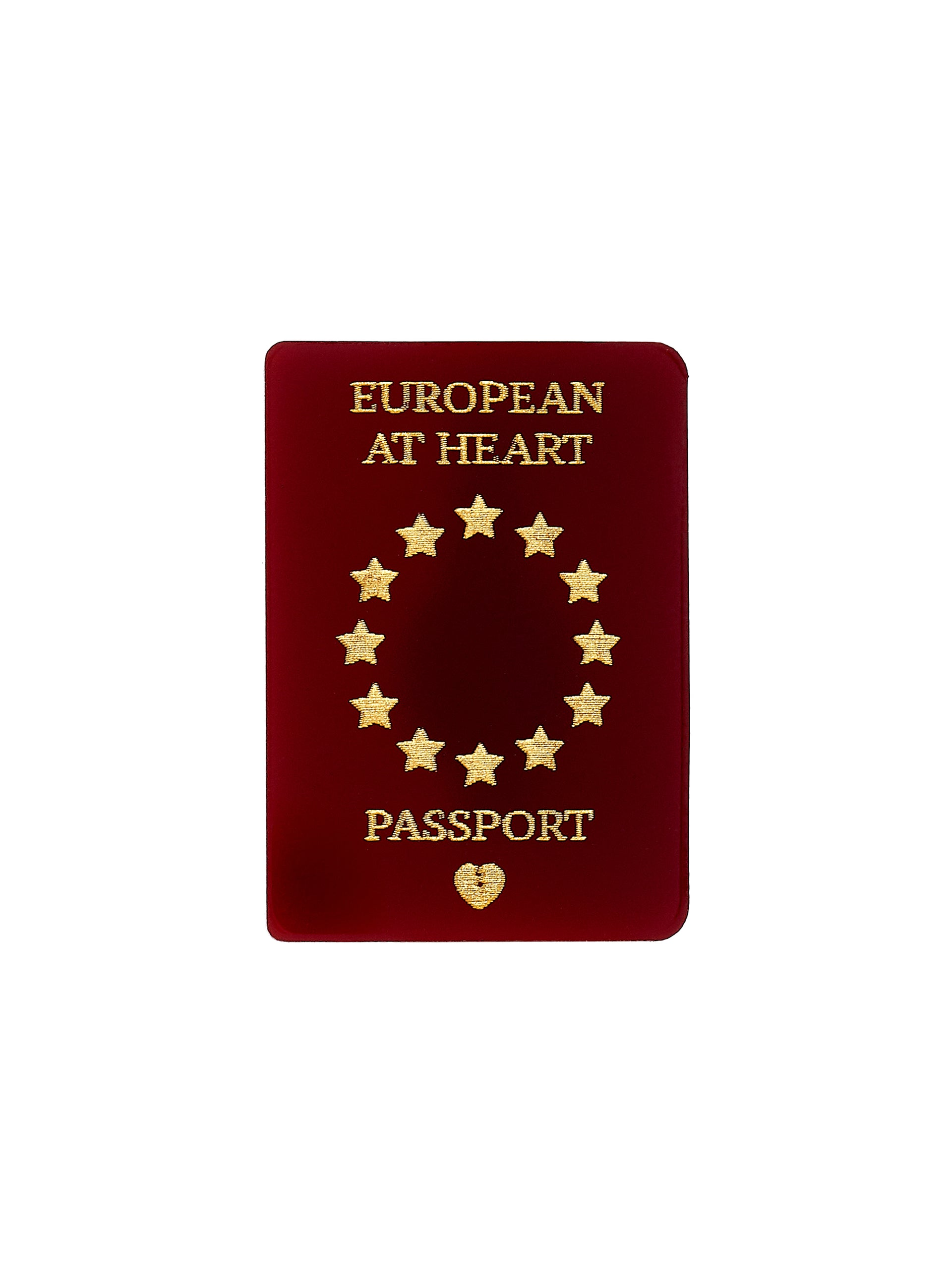EU Passport Brooch