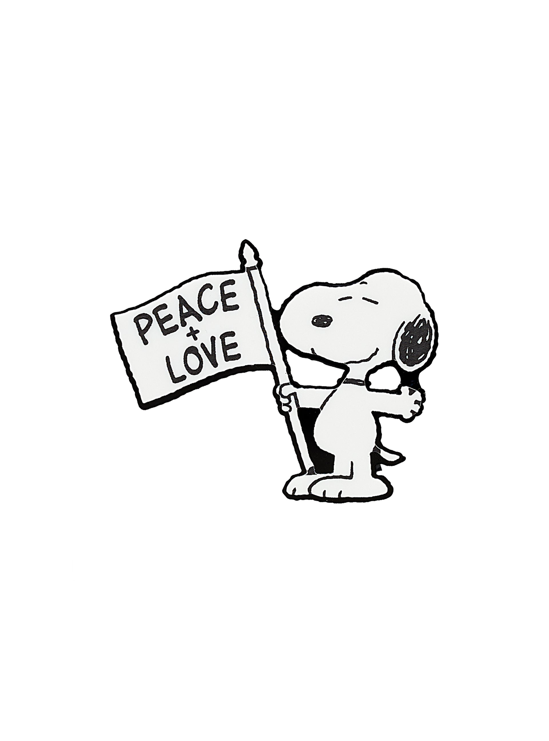 Peace-and-Love-Snoopy-Brooch