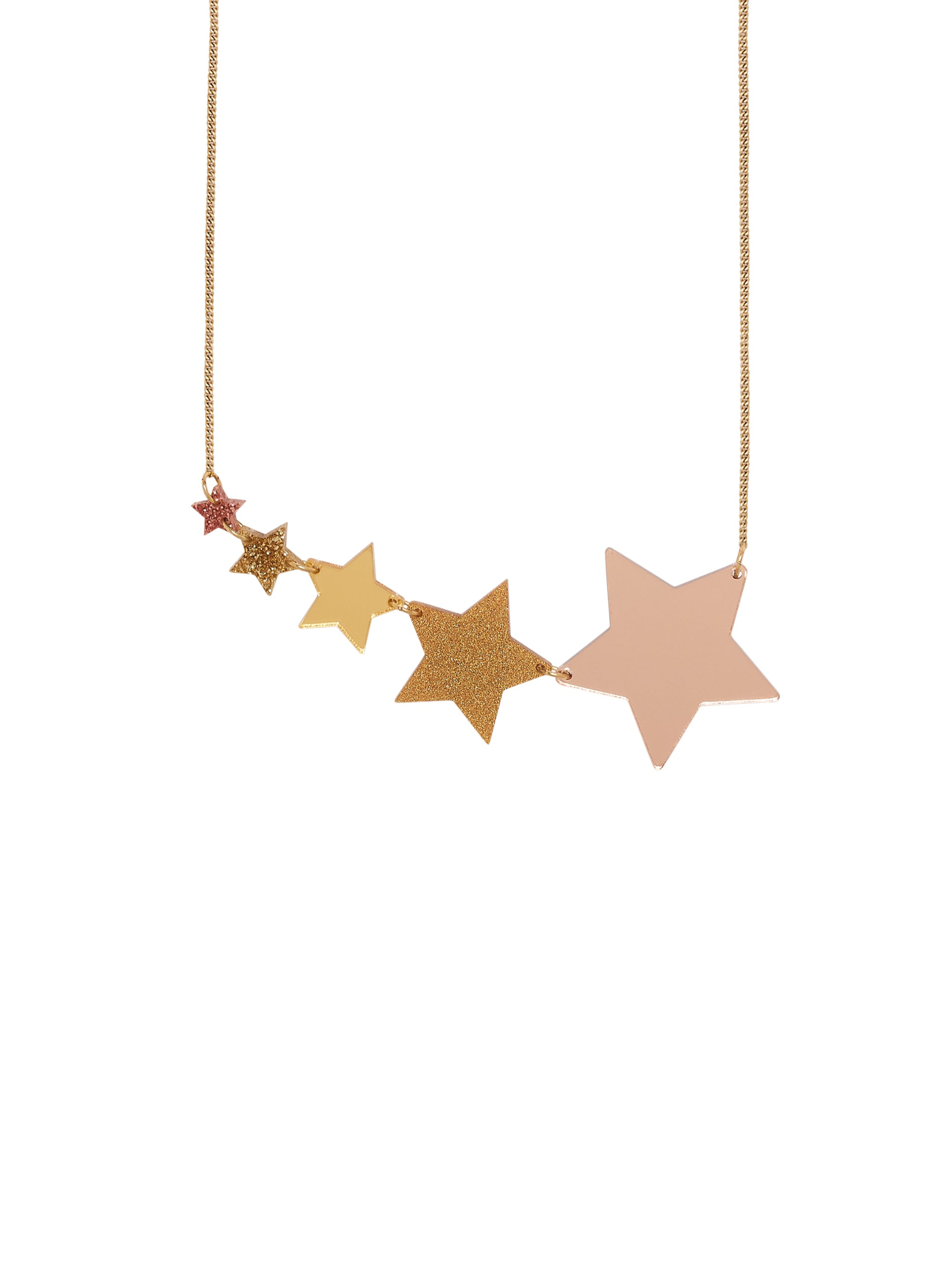 Shooting Stars Necklace - Rose Gold