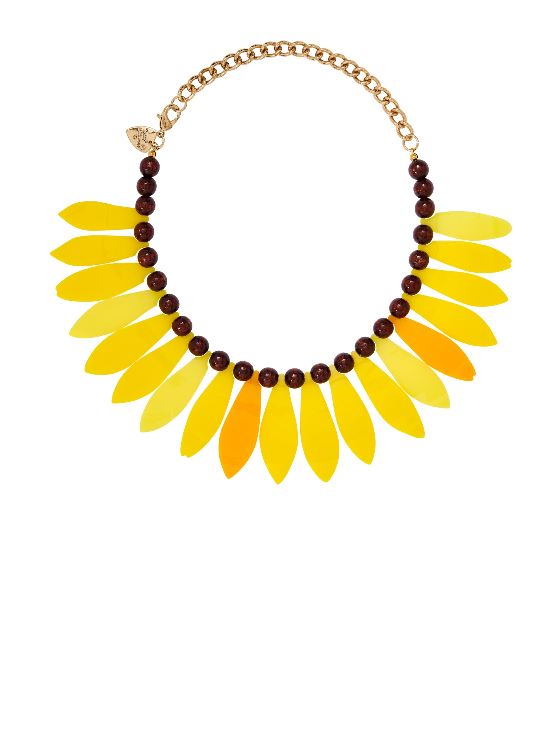 Sunflower Petal Necklace