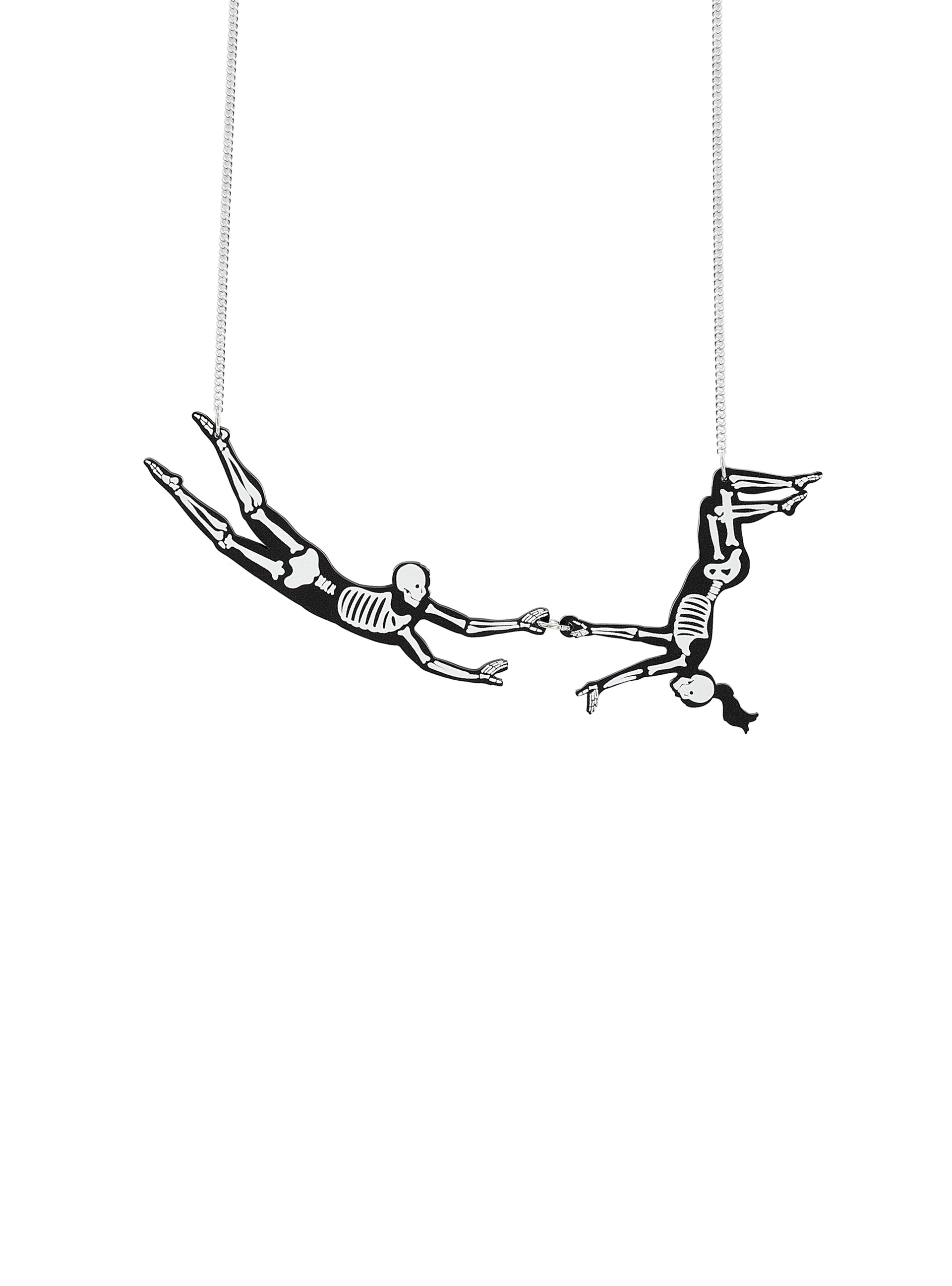 Trapeze Skeleton Necklace