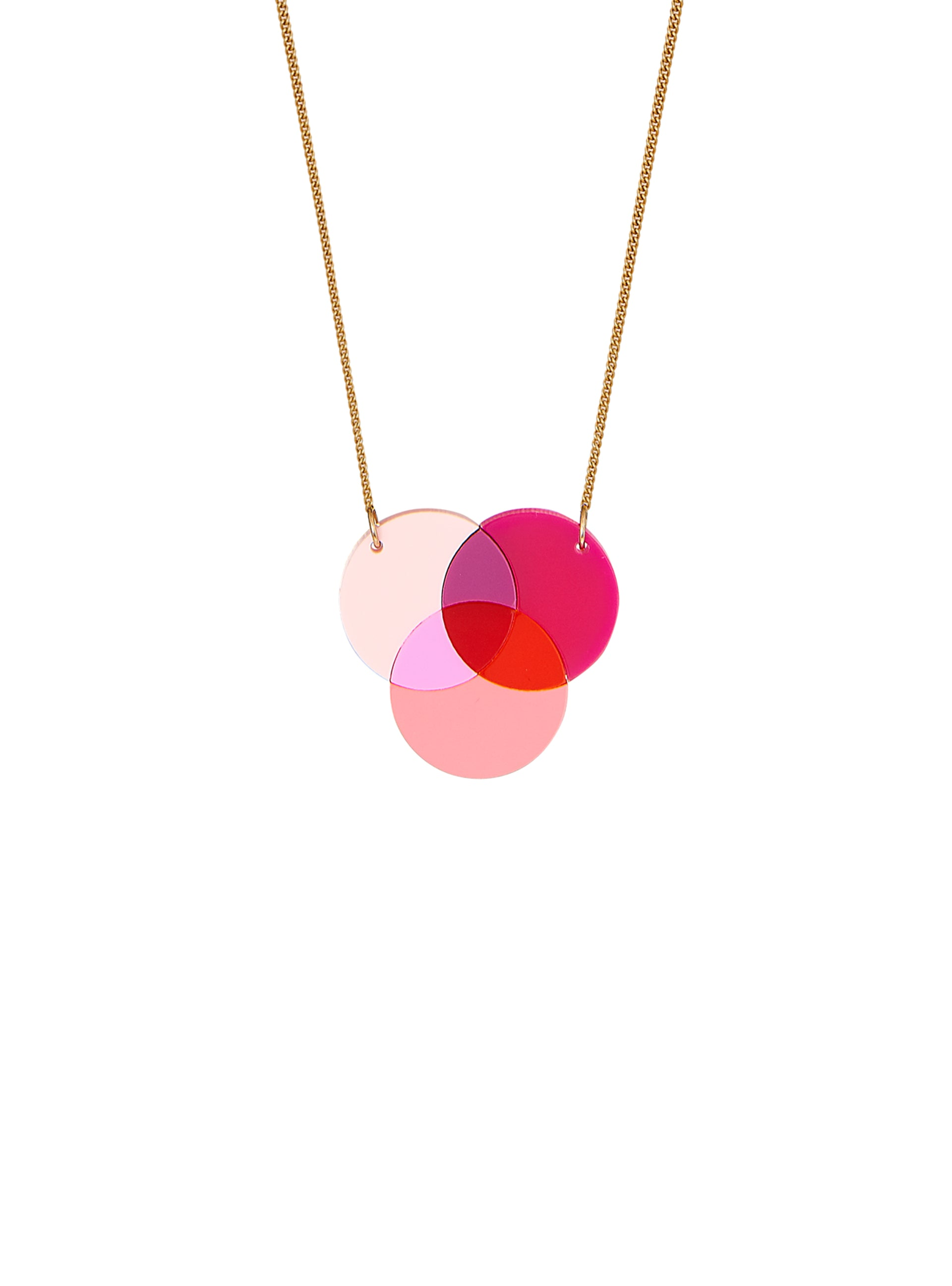 Venn Diagram Small Necklace - Warm
