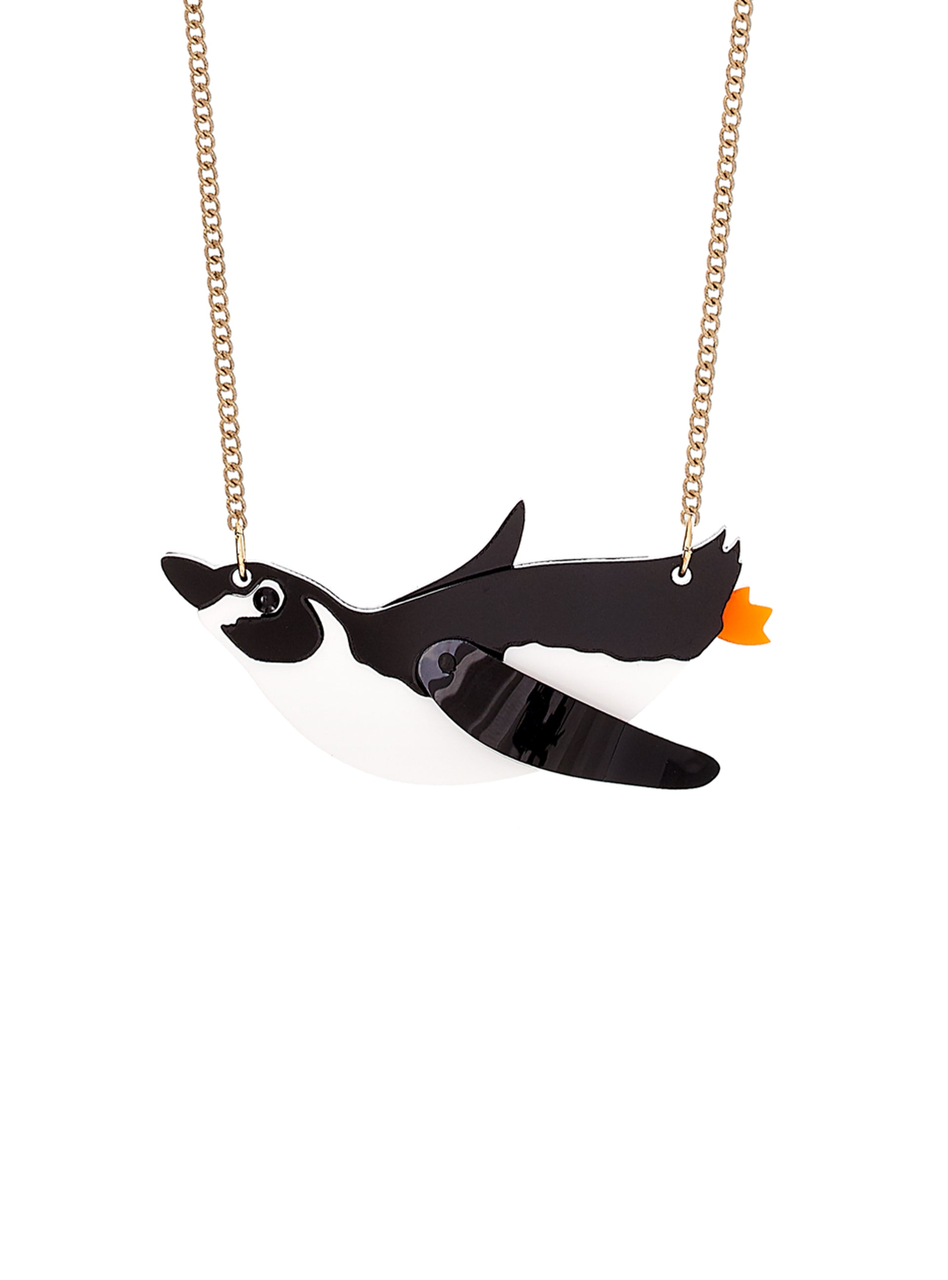 Wild Diving Penguin Necklace