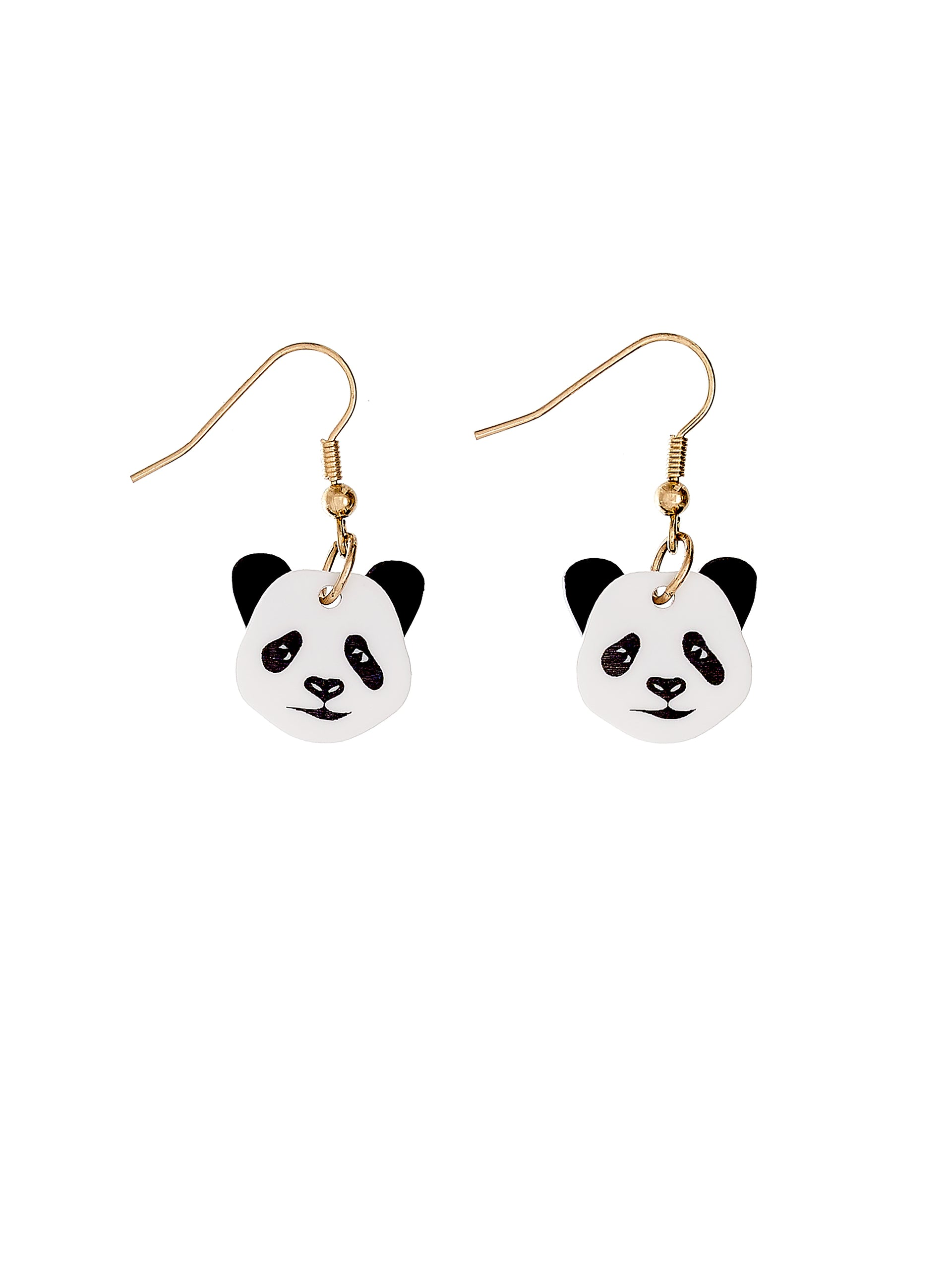 Wild Panda Drop Earrings