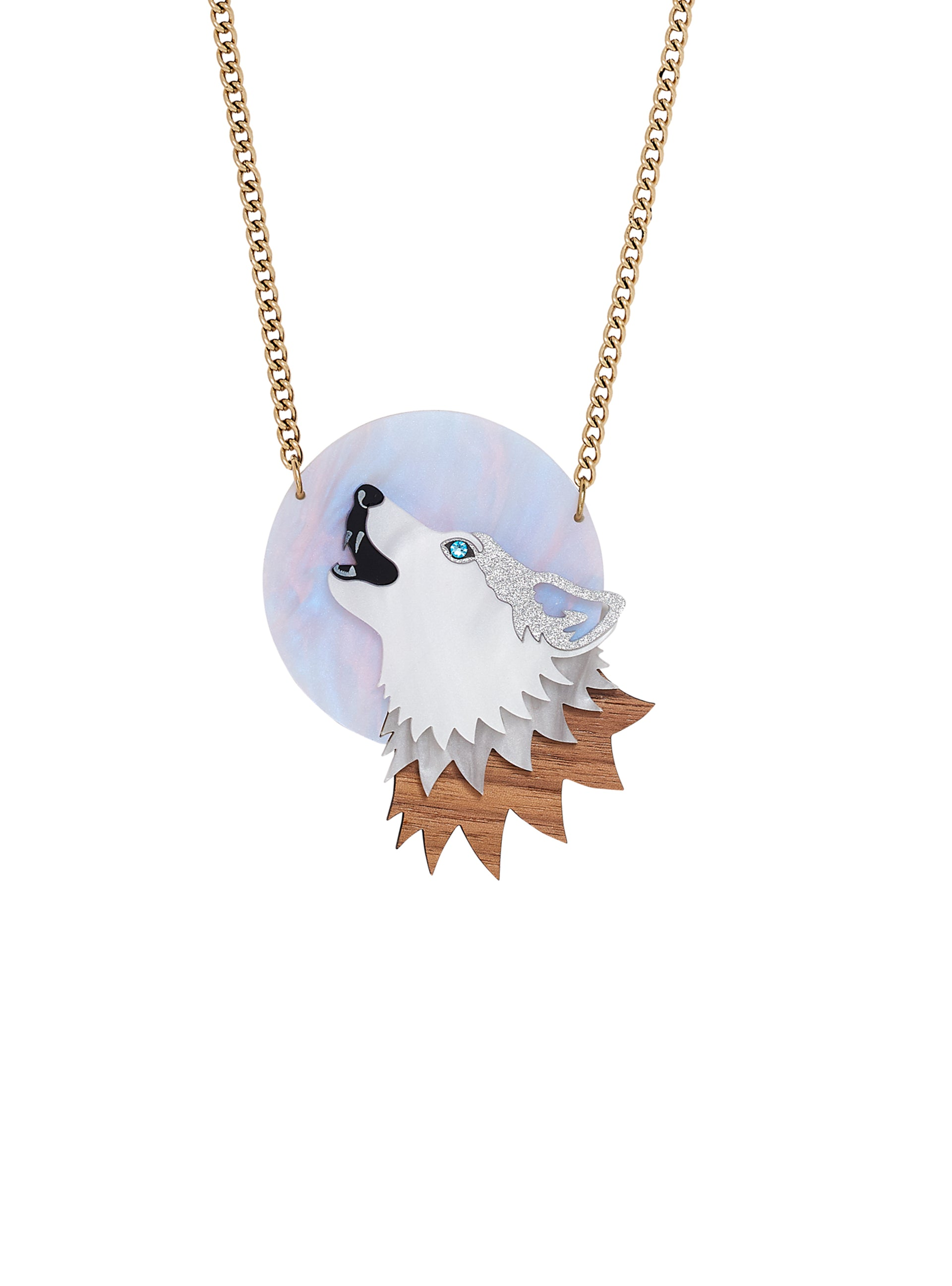 Moonlit Wolf Necklace