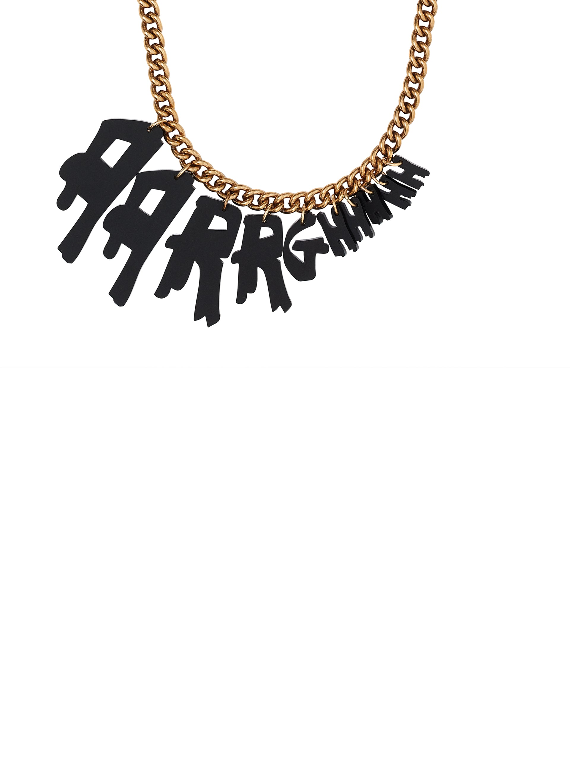 Aarrghhhh Necklace - Matt Black