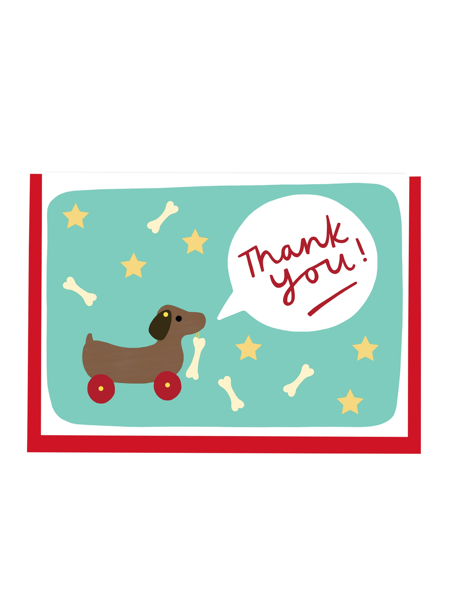 Alison Hardcastle Dog On Wheels Thank You Card