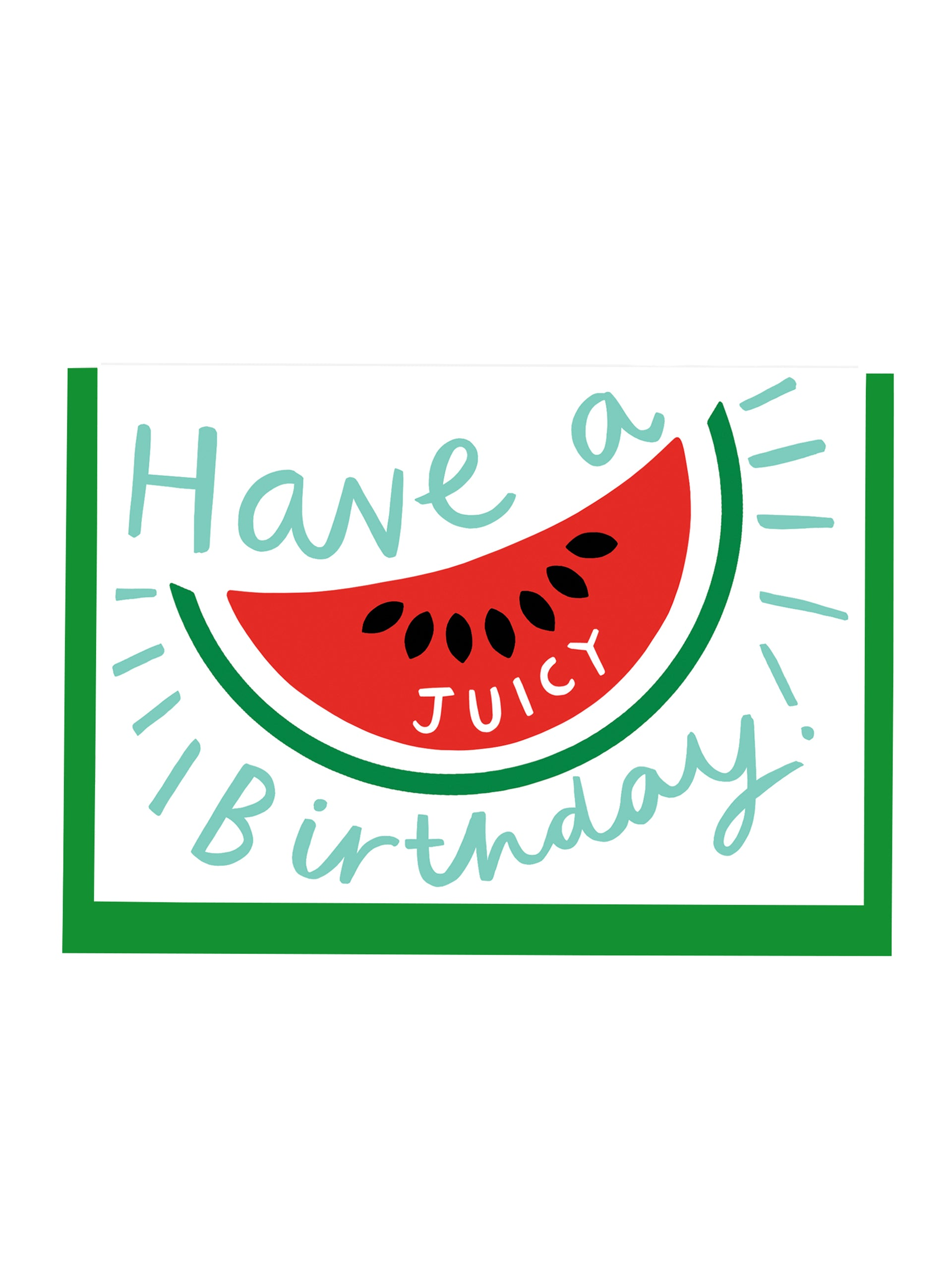 Alison Hardcastle Watermelon Birthday Card