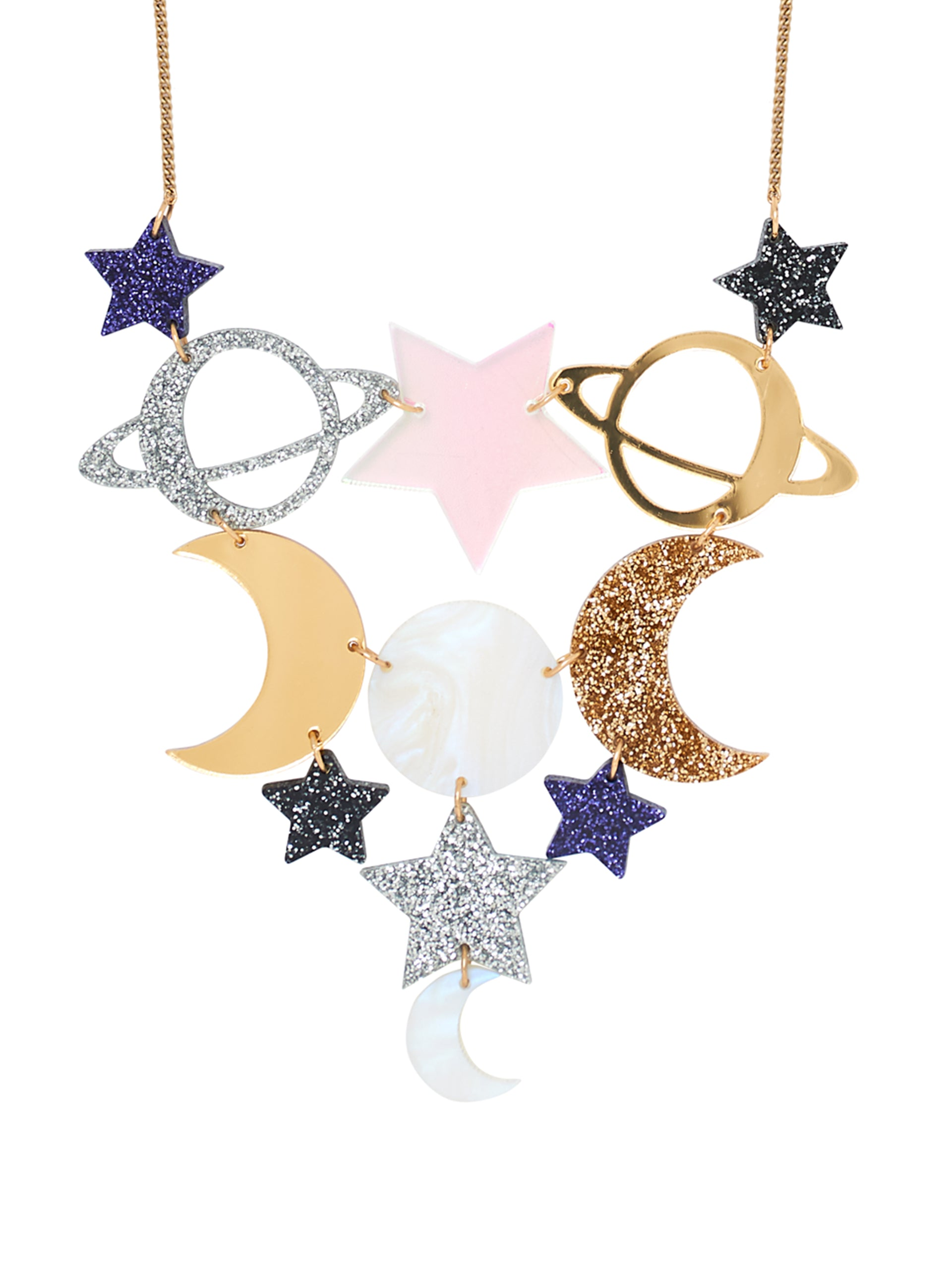 Astral Planet Statement Necklace