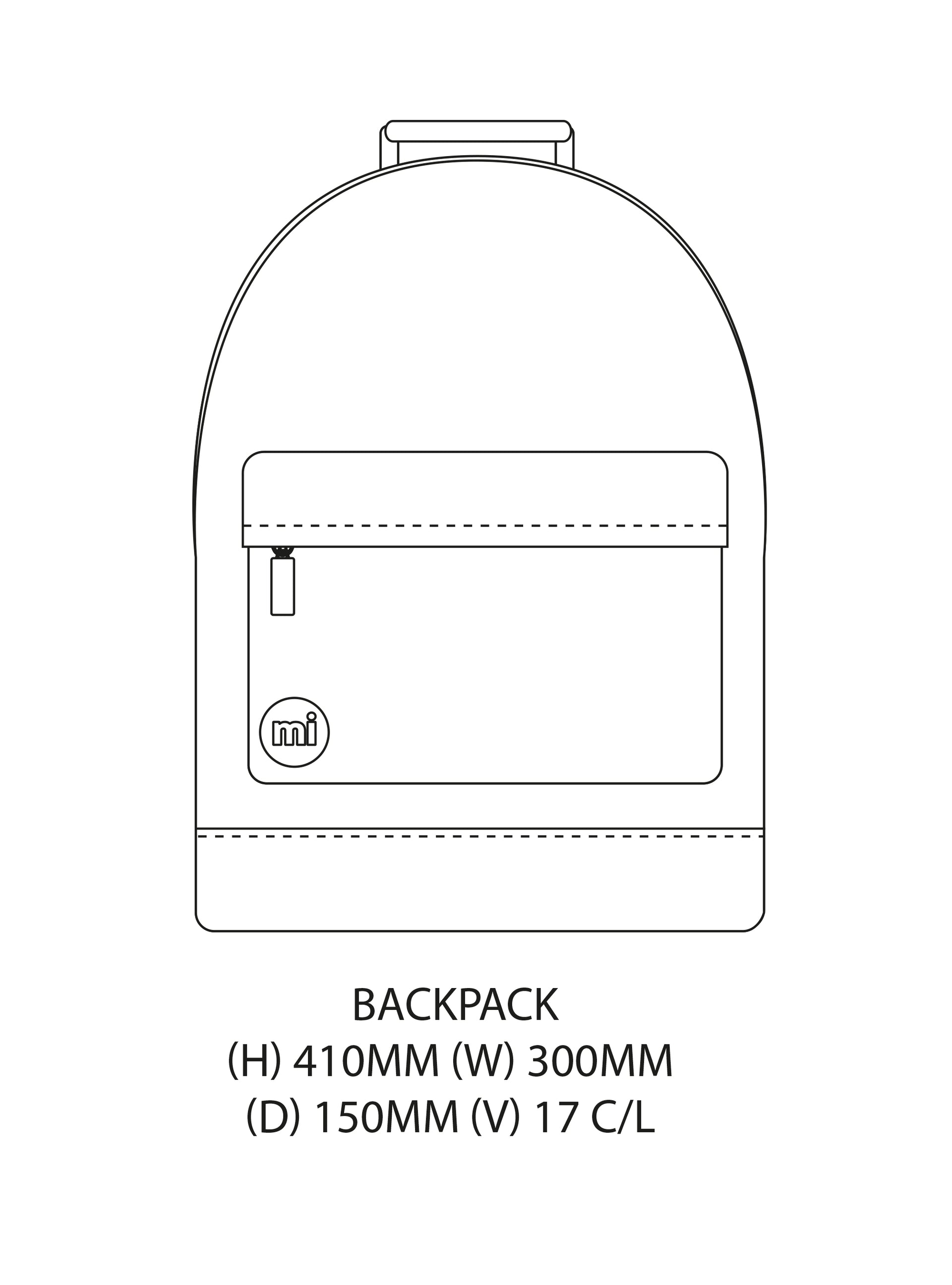 Mi-Pac Gold Backpack Dental Bling