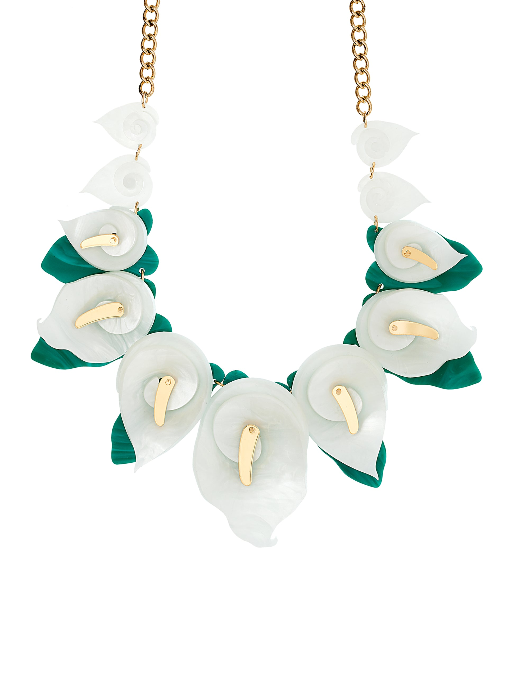 calla lily statement necklace