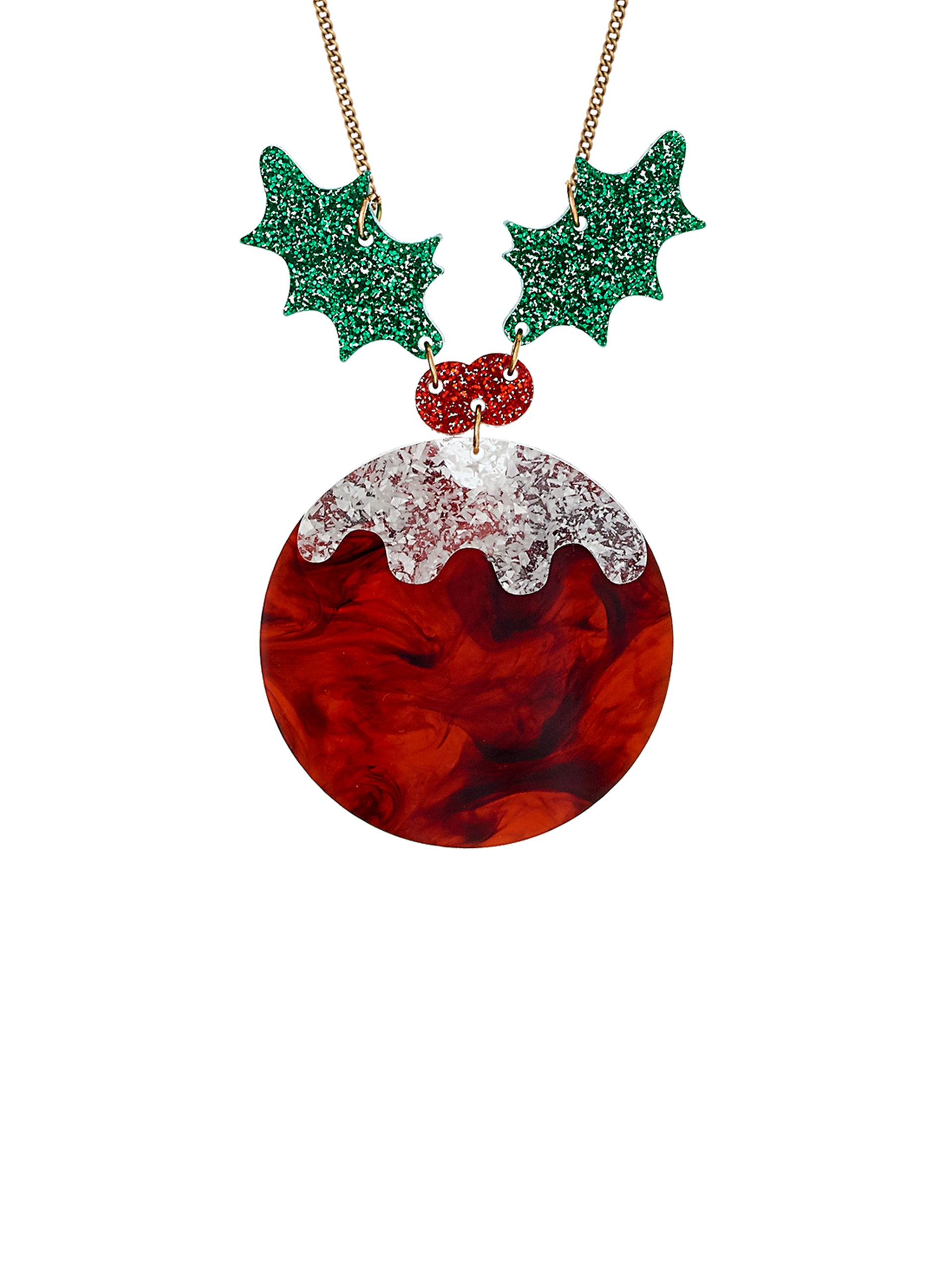 Christmas Pudding Necklace