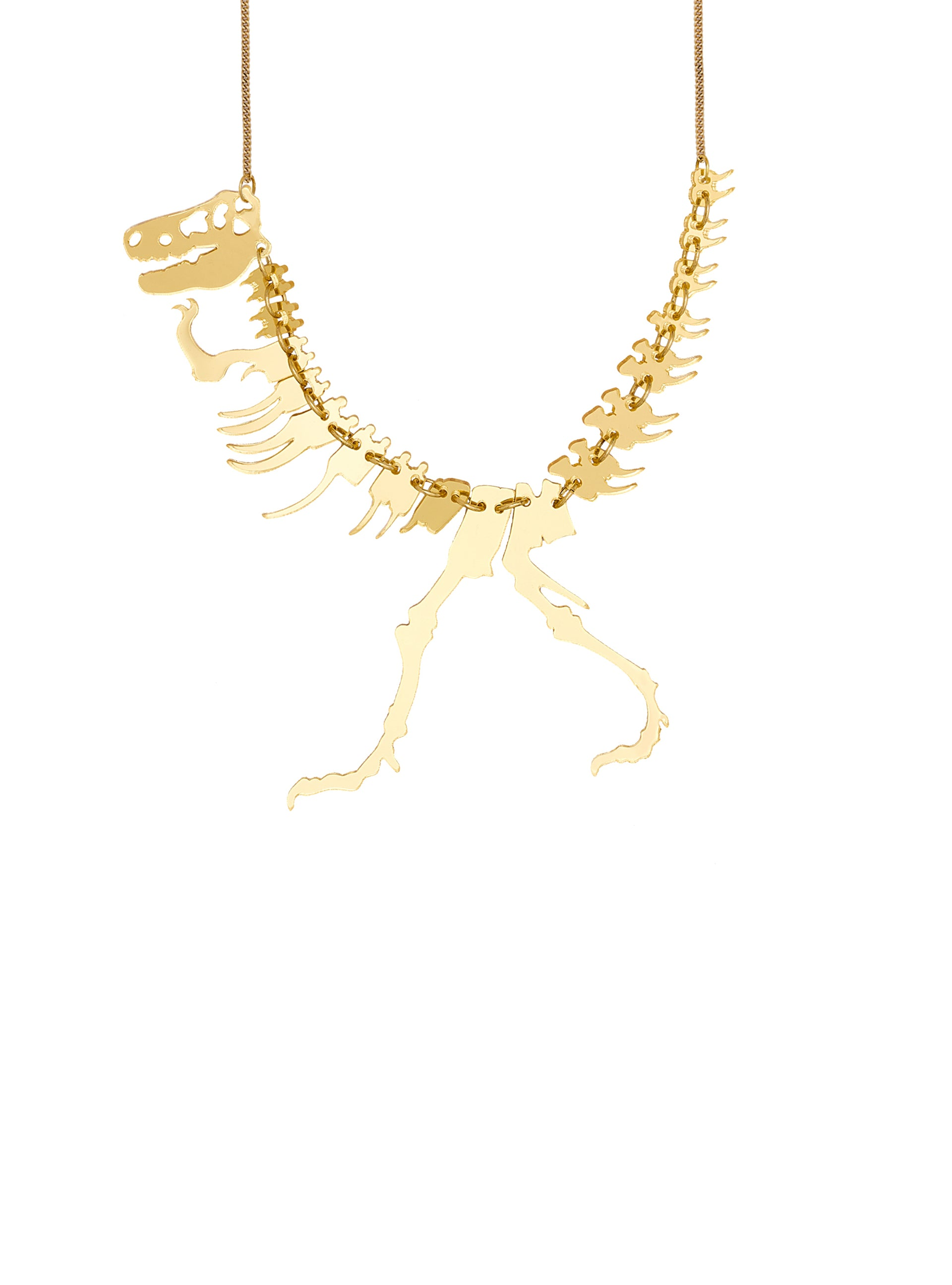 Dinosaur Necklace - Gold