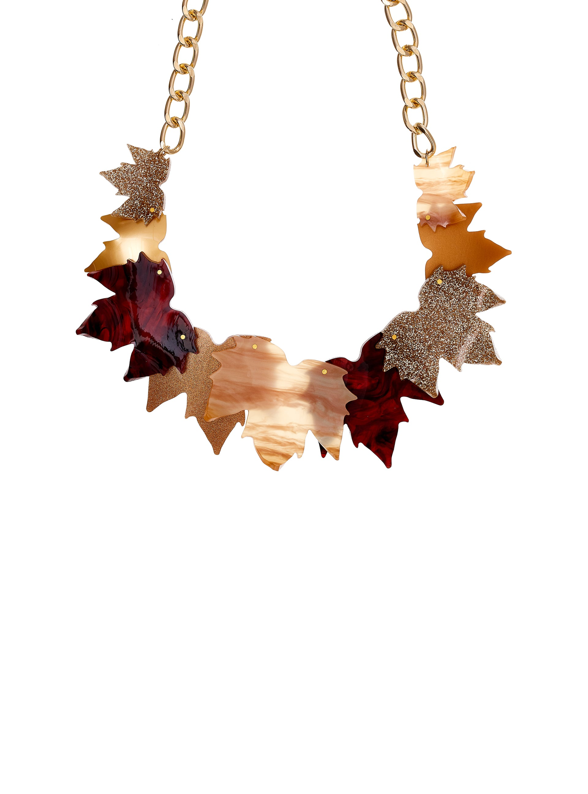 Fallen Leaves Statement Necklace