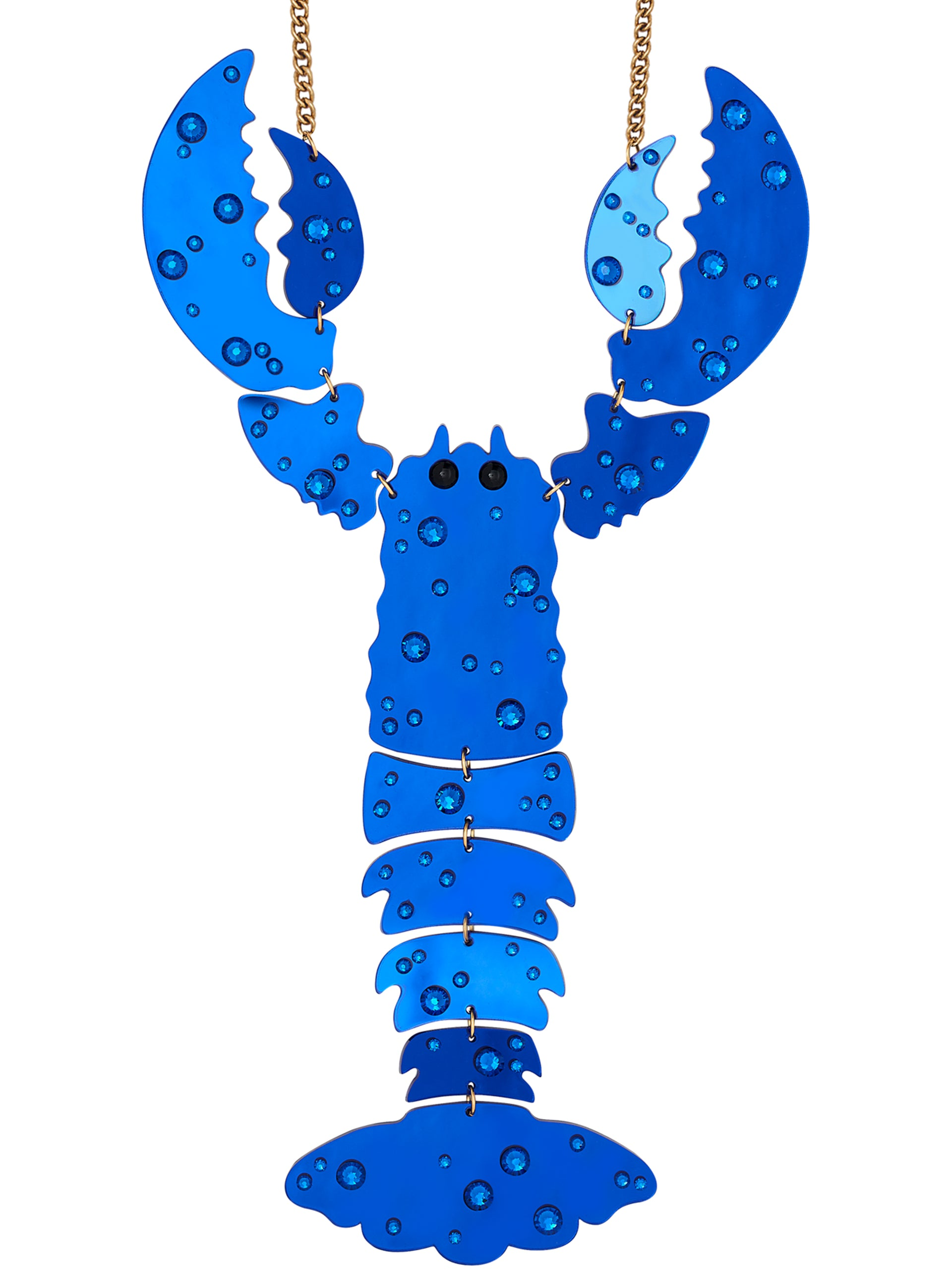 Giant Lobster Necklace - Blue Lagoon