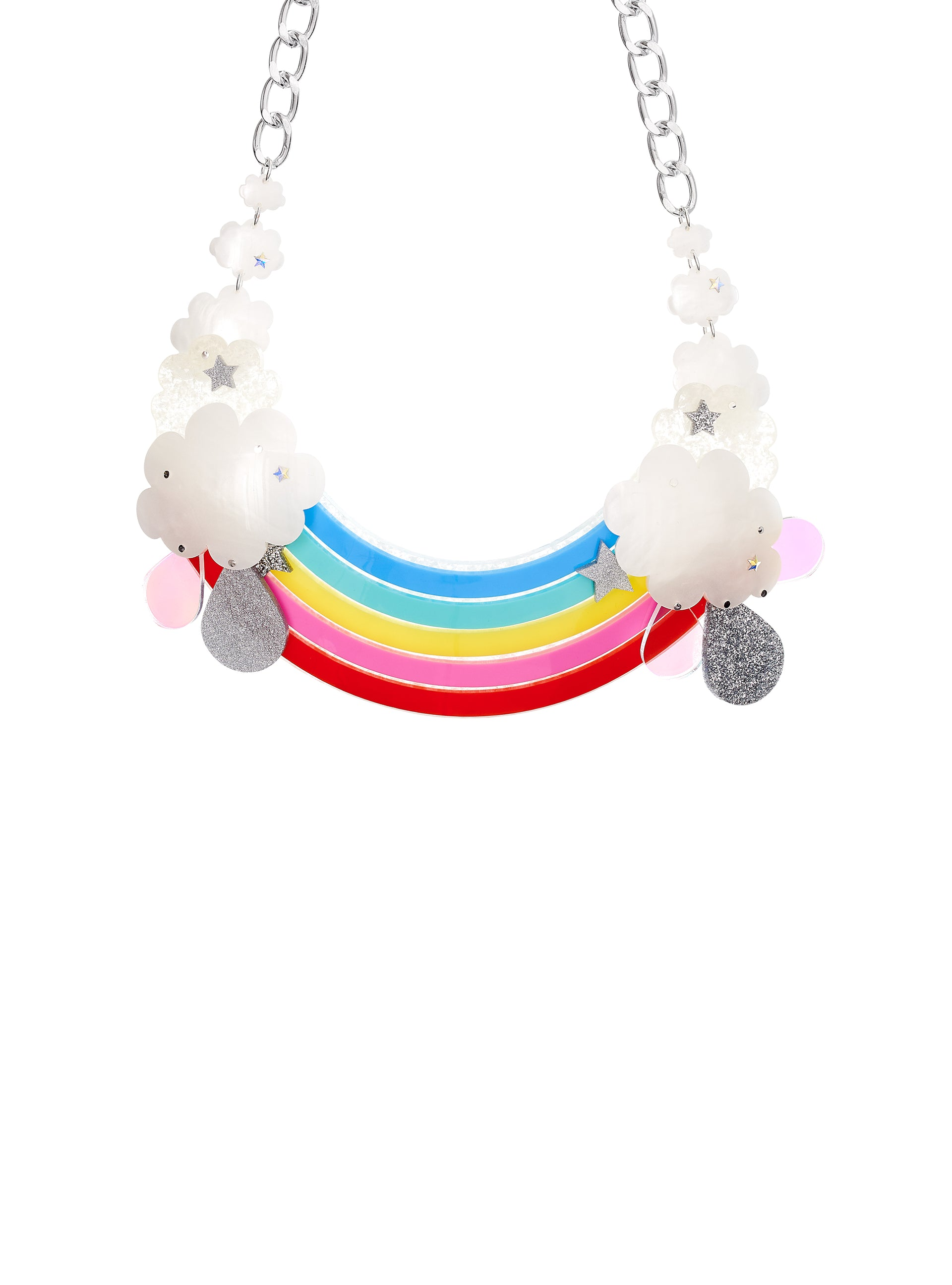Rainbow Super Statement Necklace