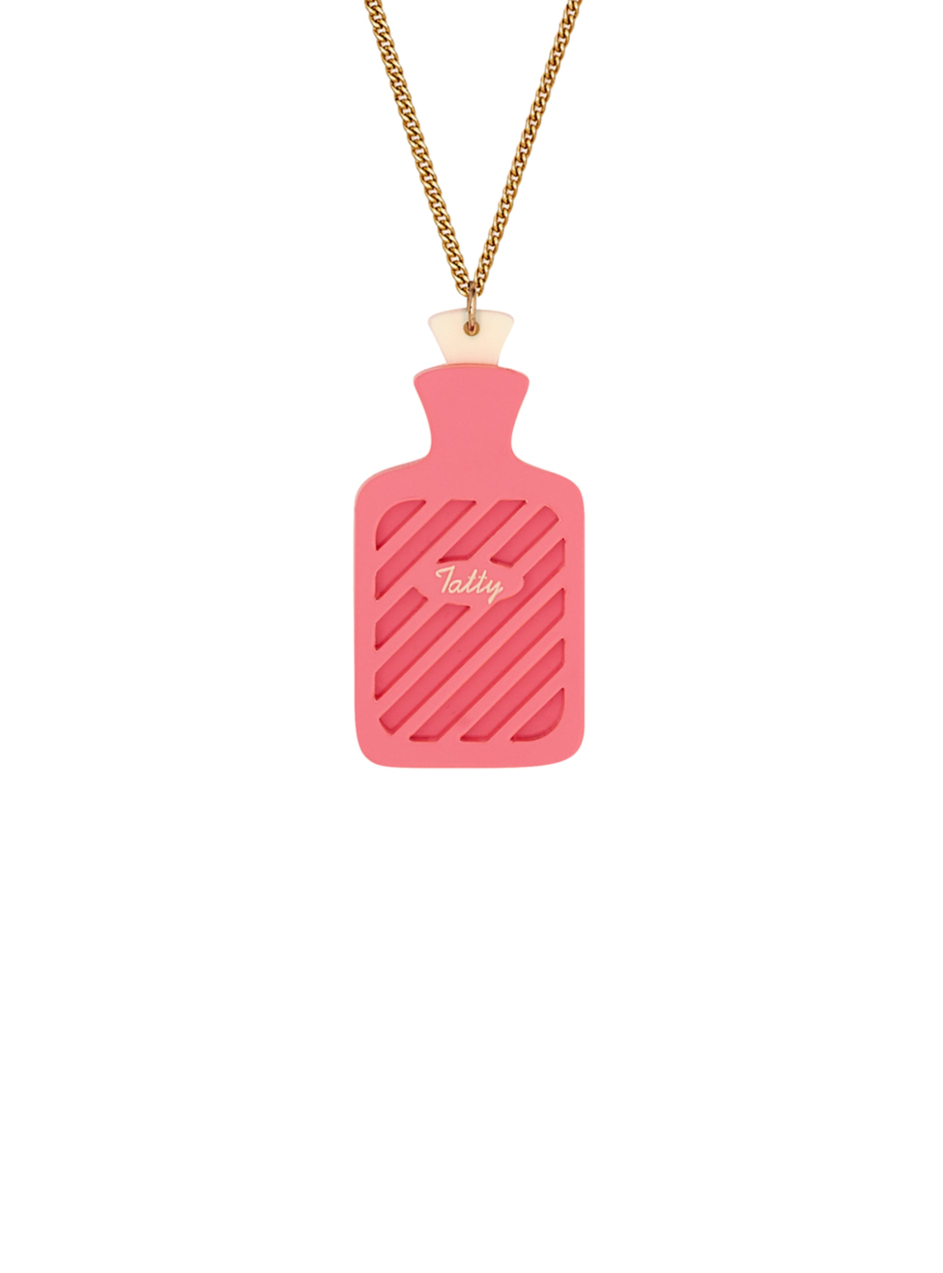 Hot Water Bottle Necklace - Dusty Pink