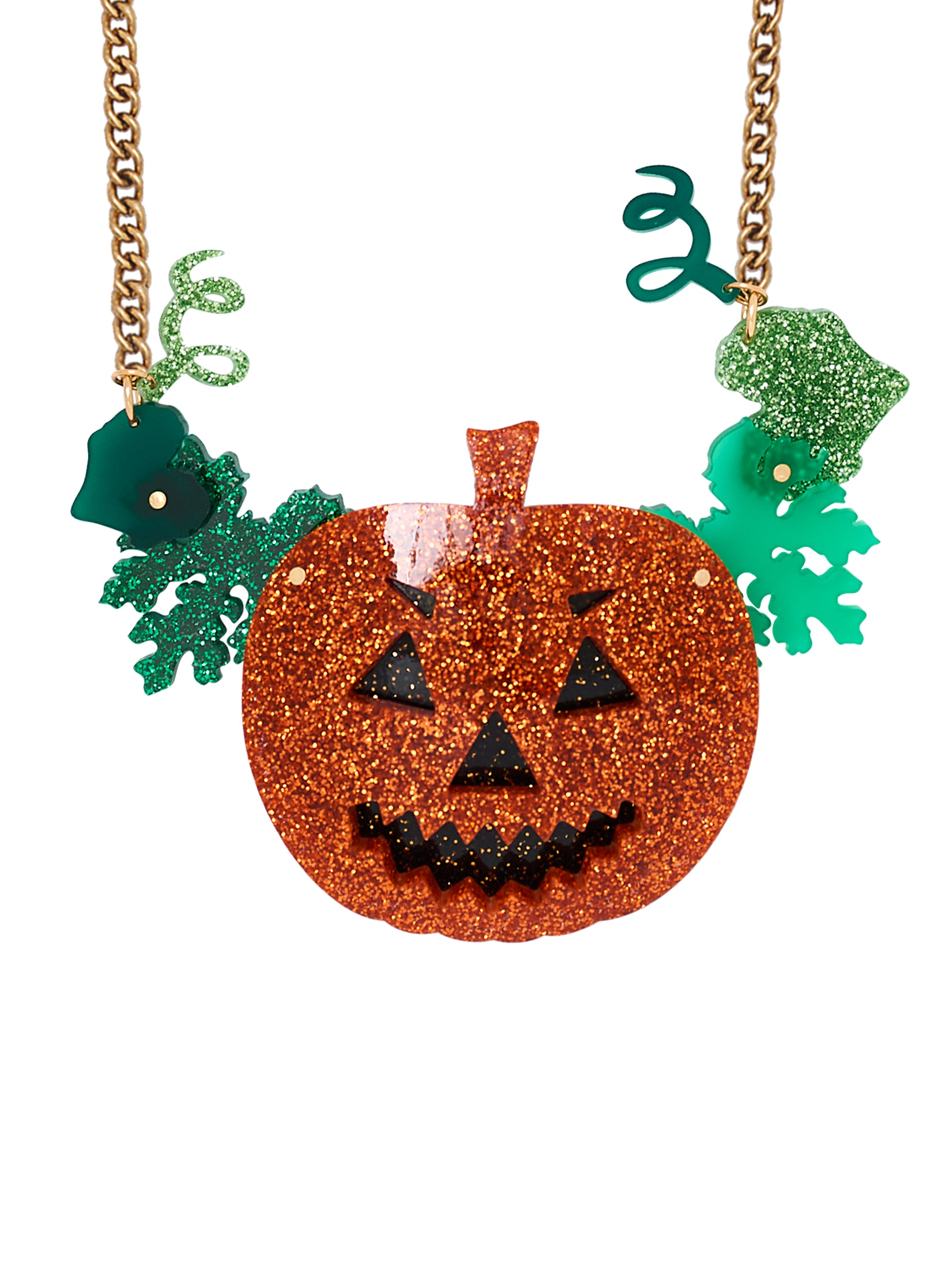 Jack-O-Lantern Statement Necklace
