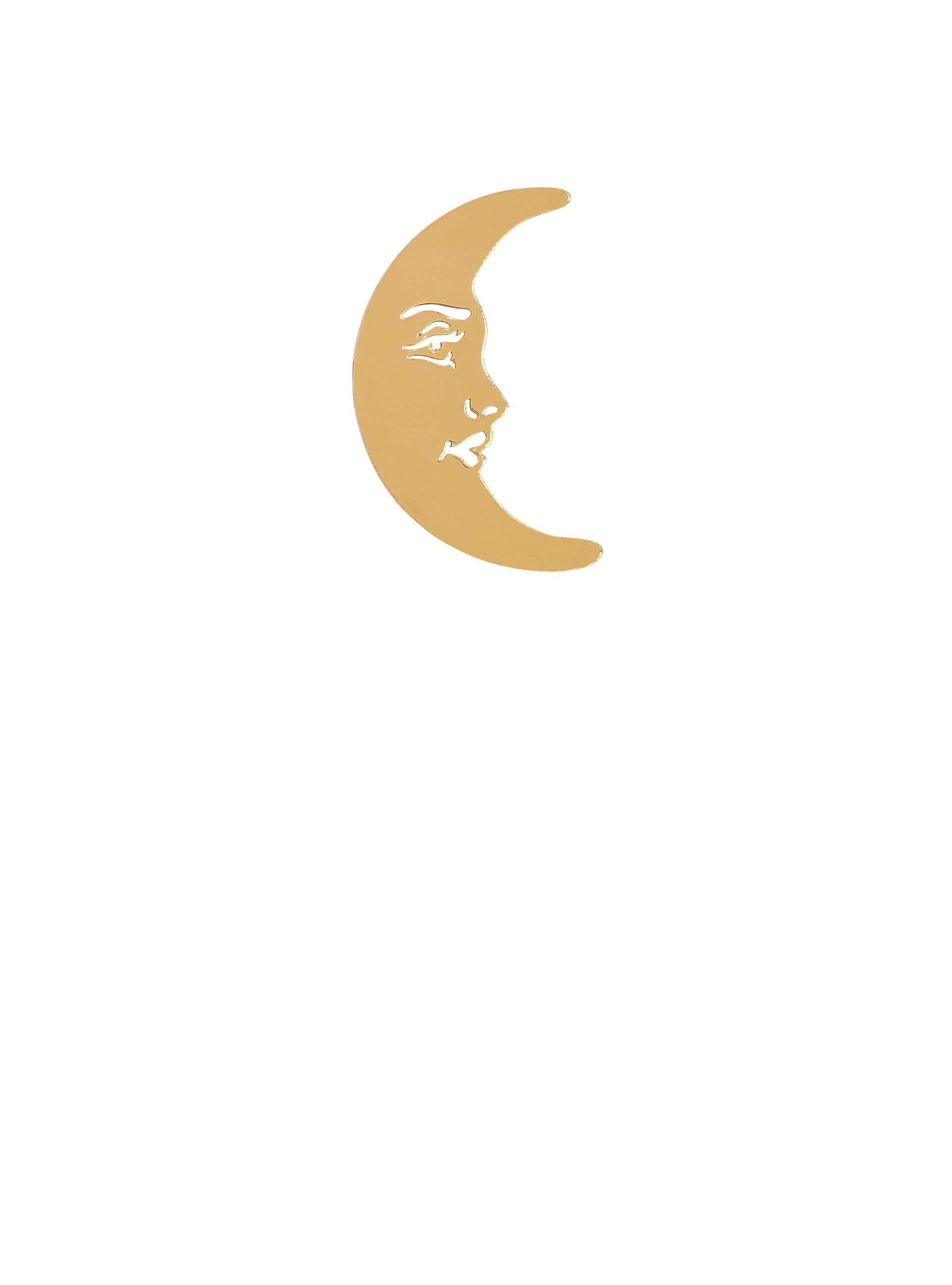 La Luna Moon Brooch - Gold