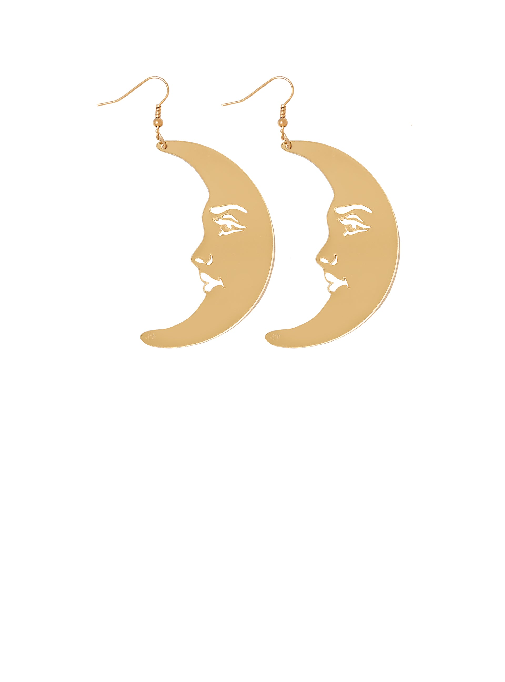 La Luna Moon Earrings - Gold