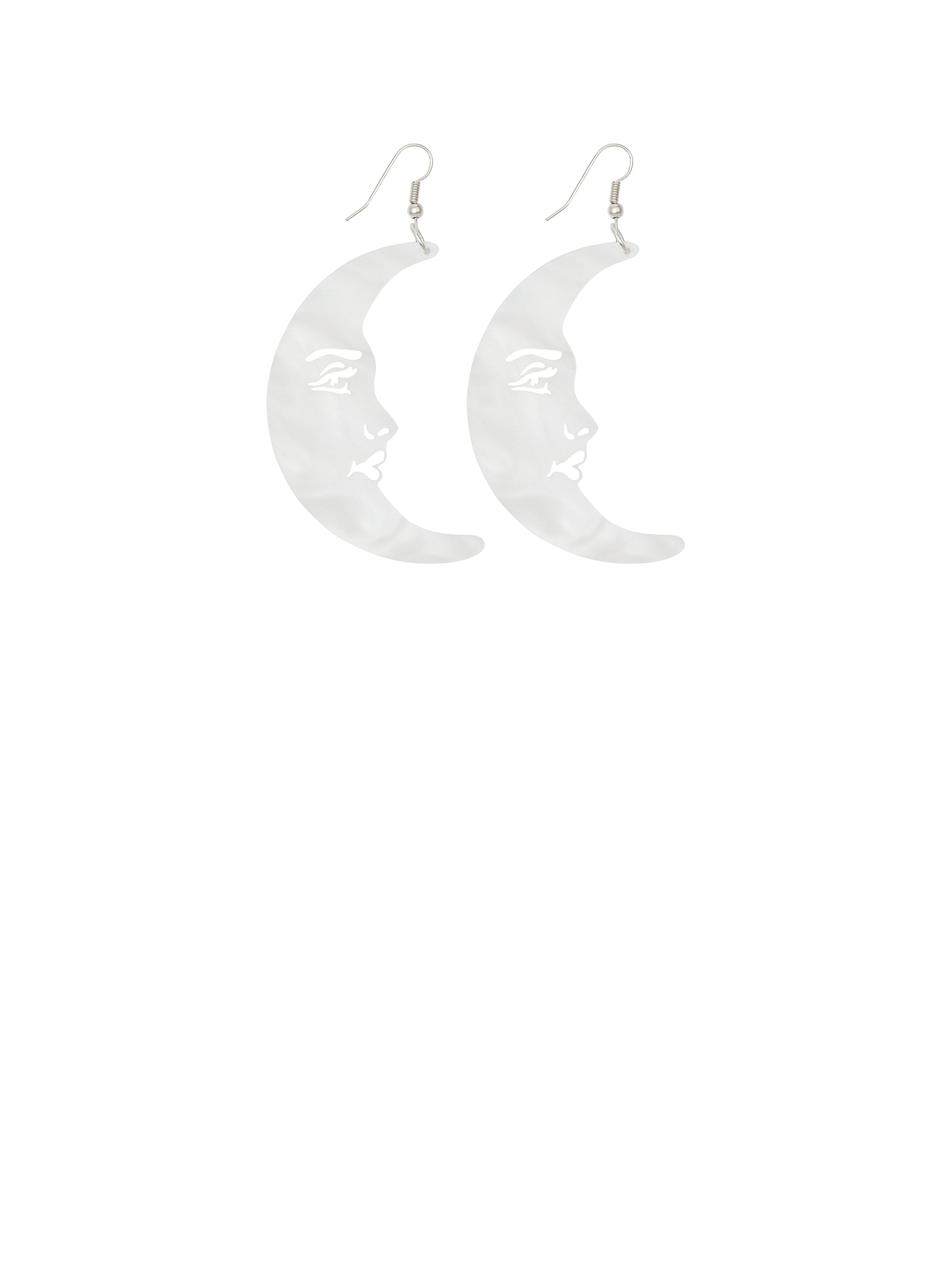 La Luna Moon Earrings - Pearl