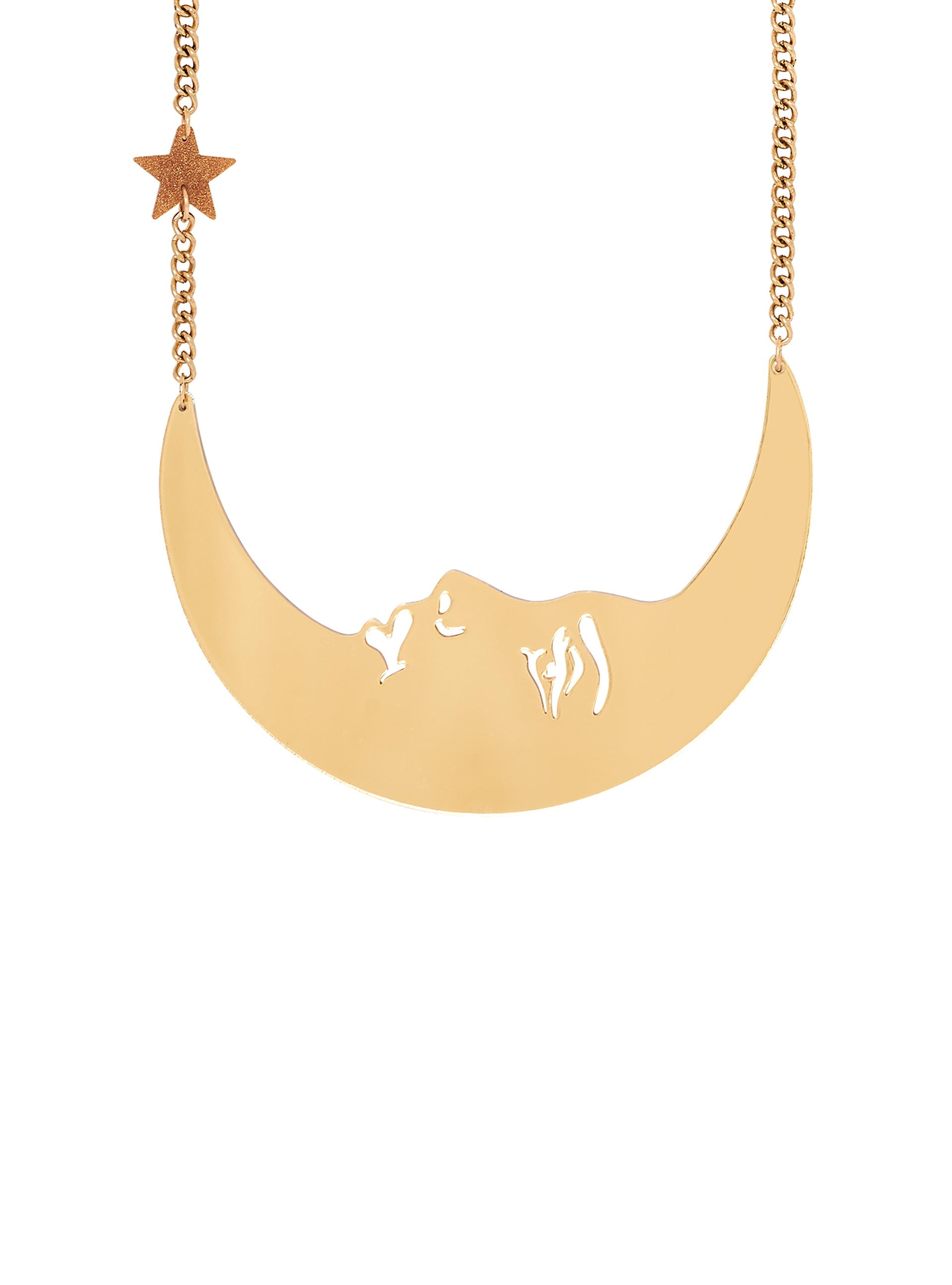 La Luna Moon Necklace - Gold