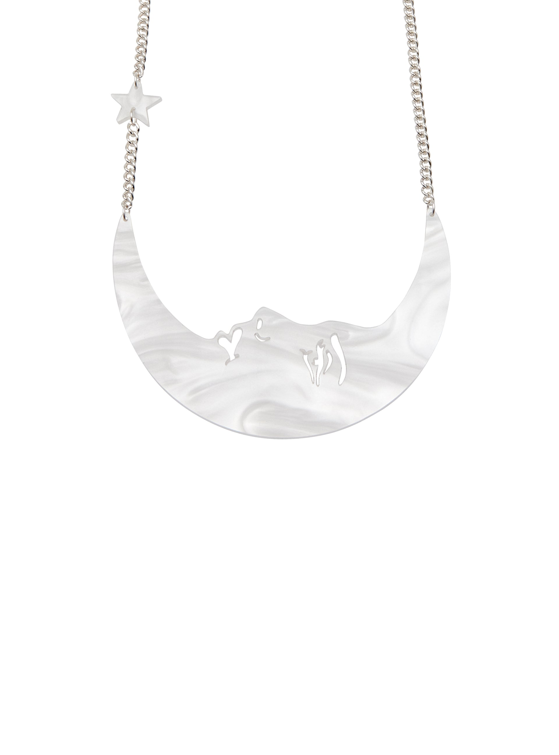 La Luna Moon Necklace - Pearl