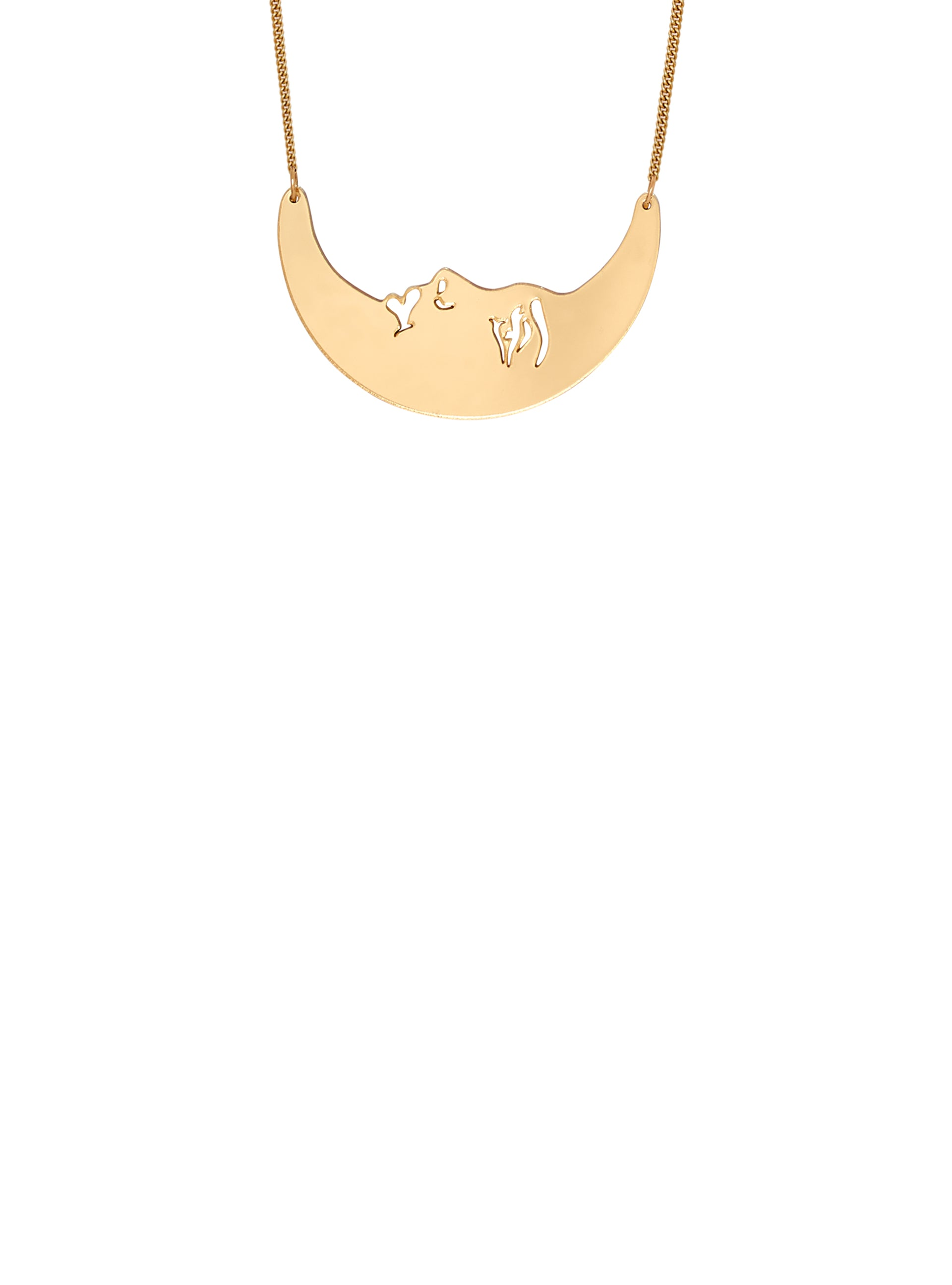 La Luna Moon Small Necklace - Gold