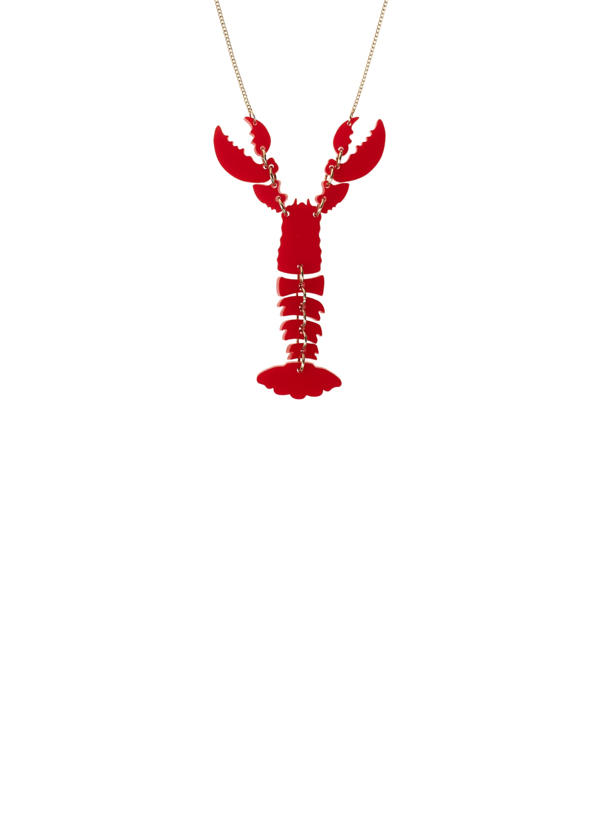 Lobster Necklace - Red