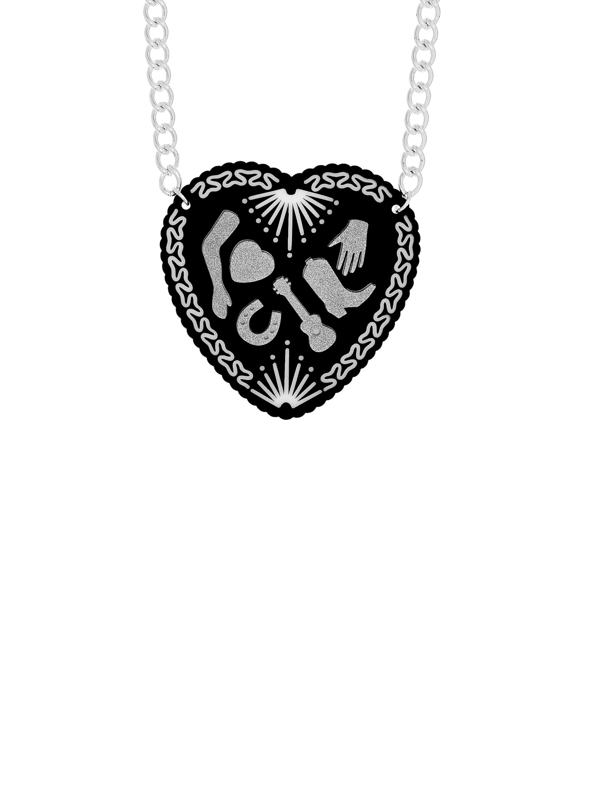 Milagros Big Heart Necklace