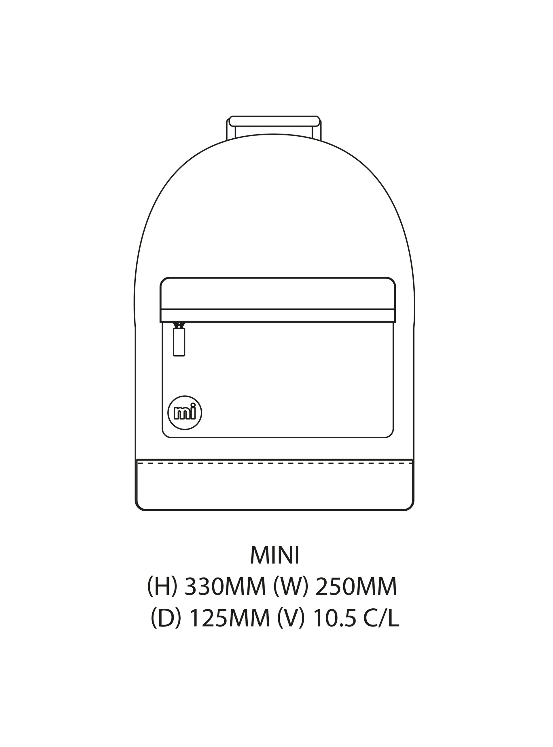 Mi-Pac Gold Mini Backpack Gin