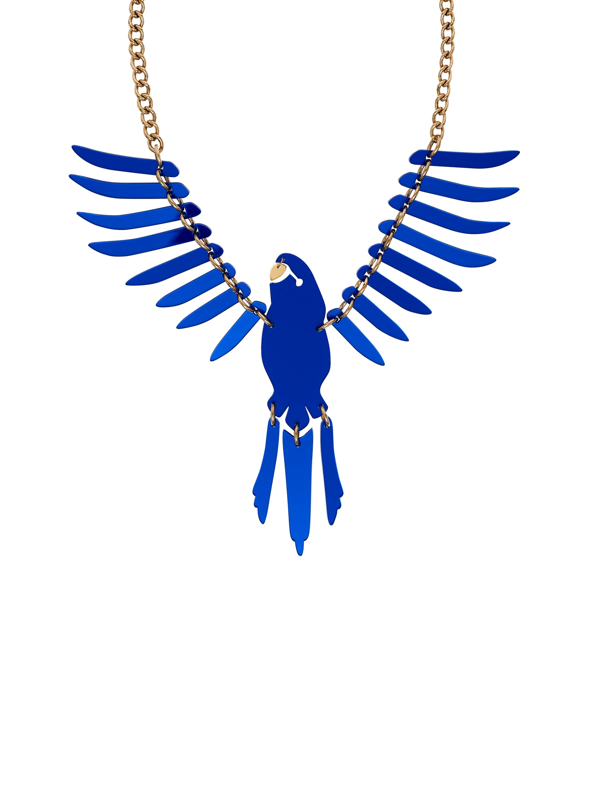 Parakeet-Large-Necklace-Mirror Blue