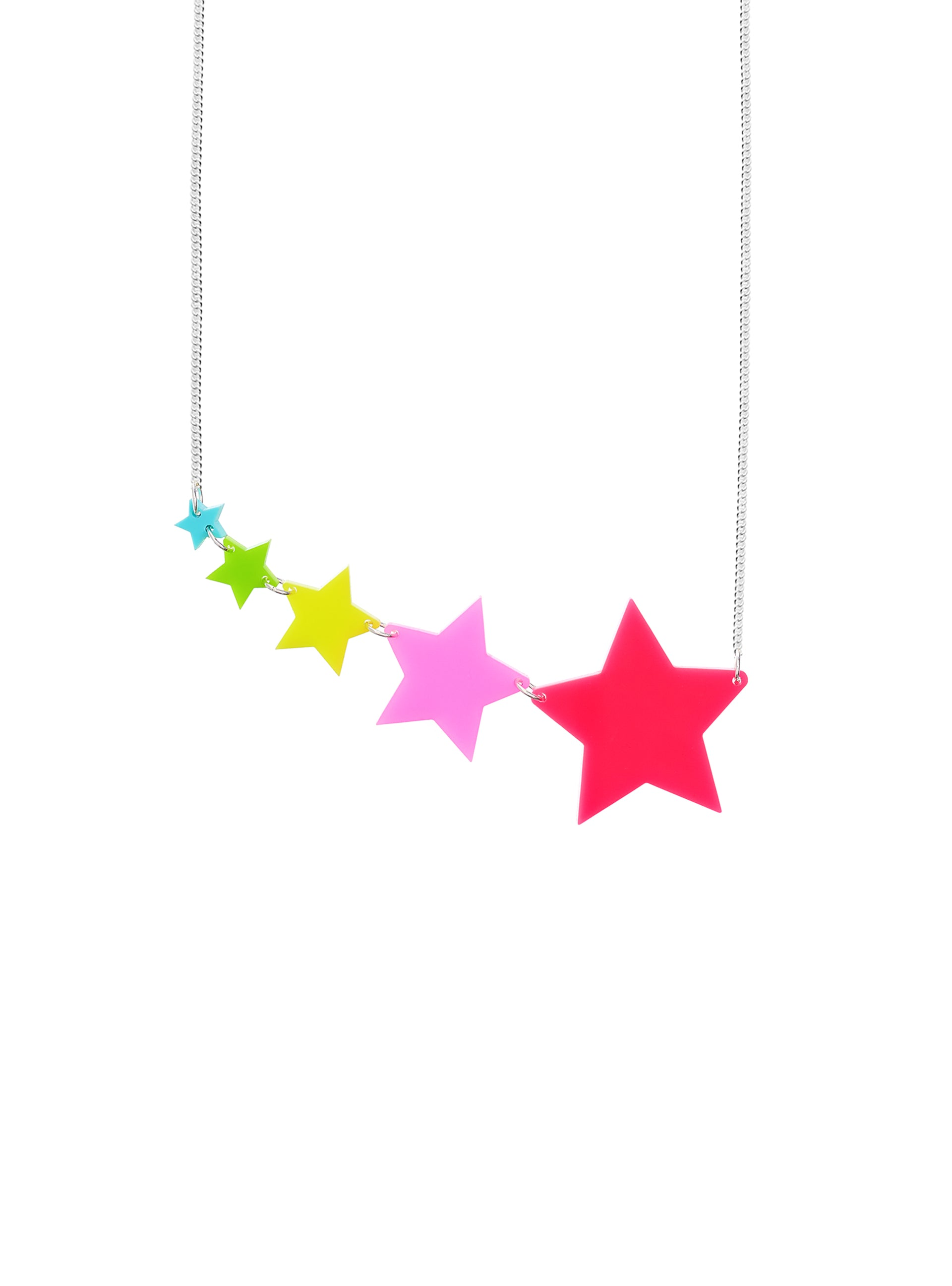 Shooting Star Necklace - Neon