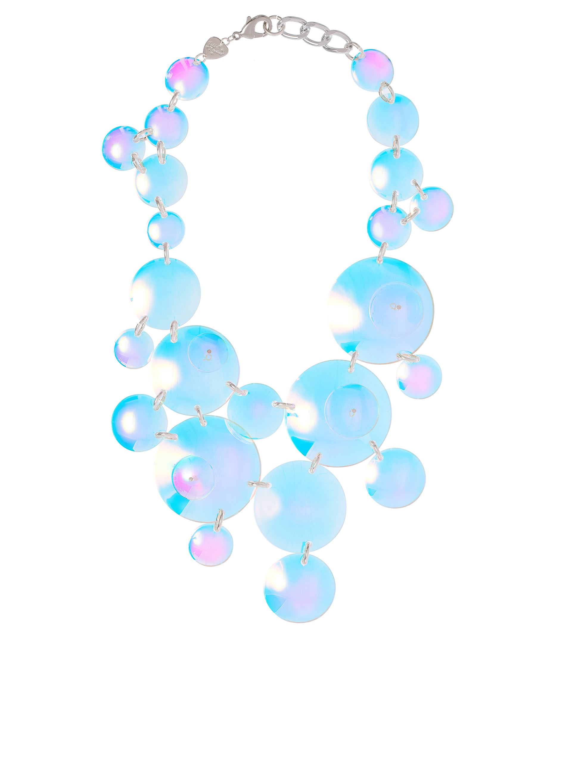 Iridescent Bubbles Super Statement Necklace