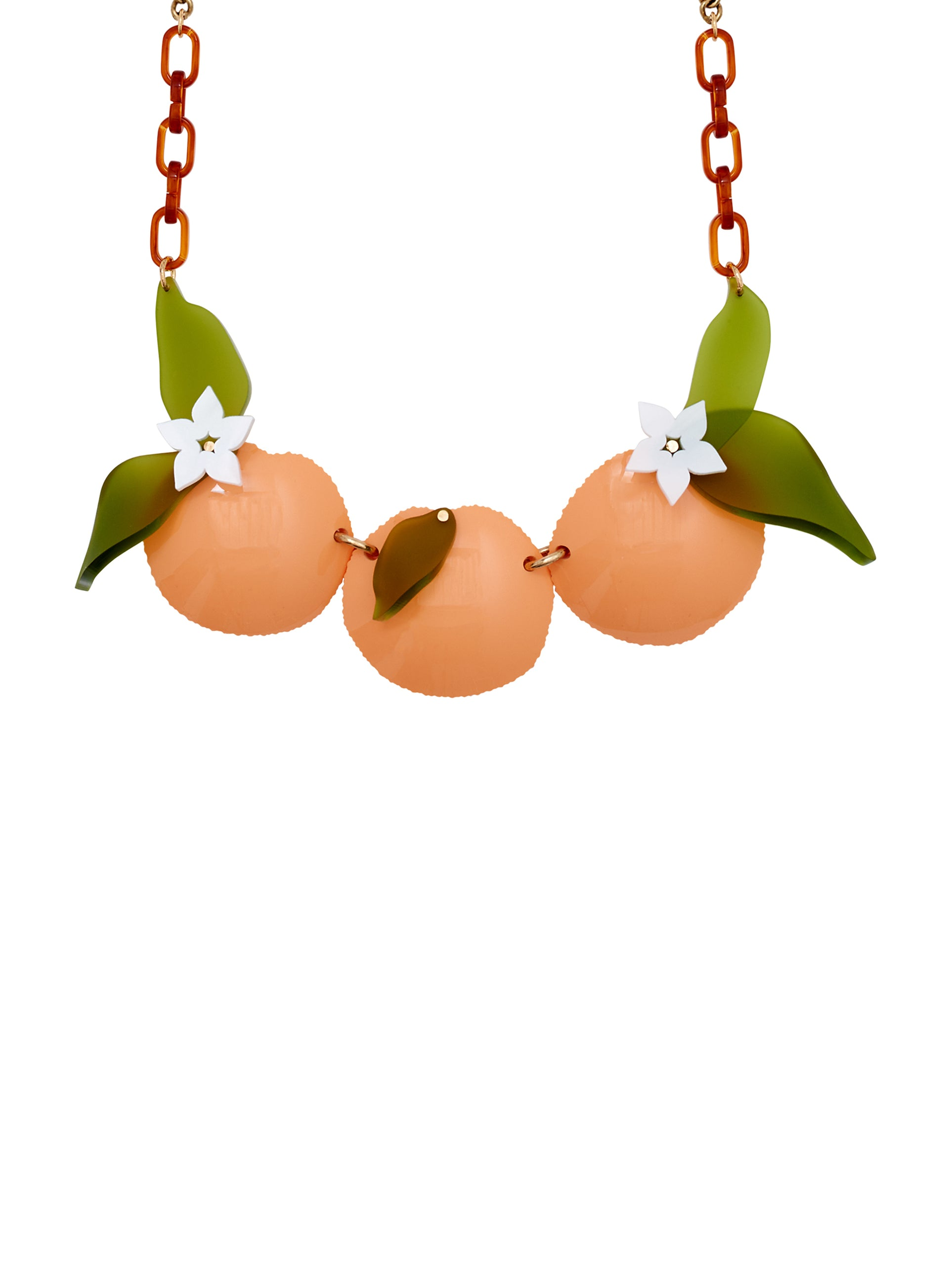 Orange Blossom Statement Necklace