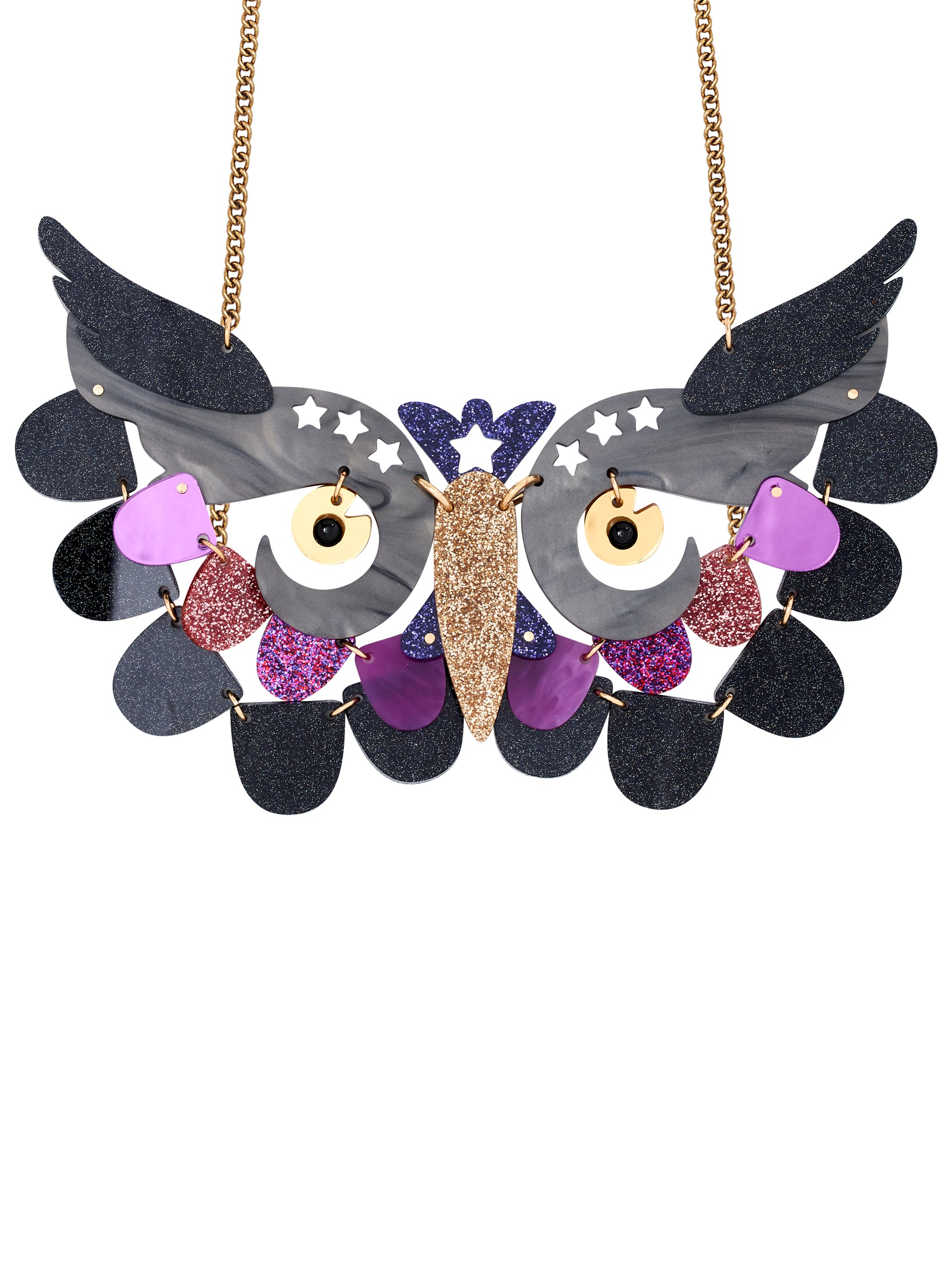 Twilight Owl Statement Necklace