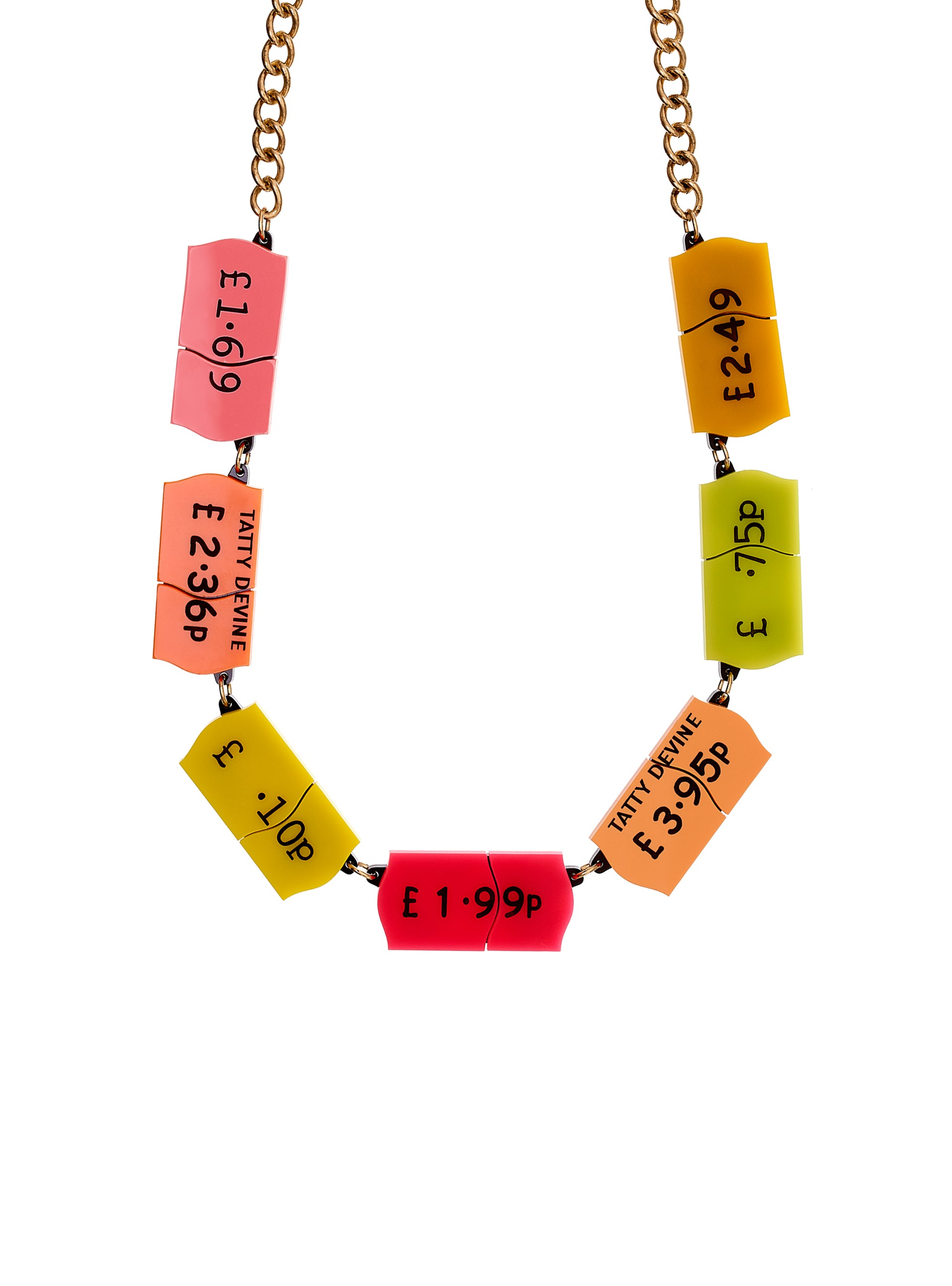 Price Ticket Link Necklace